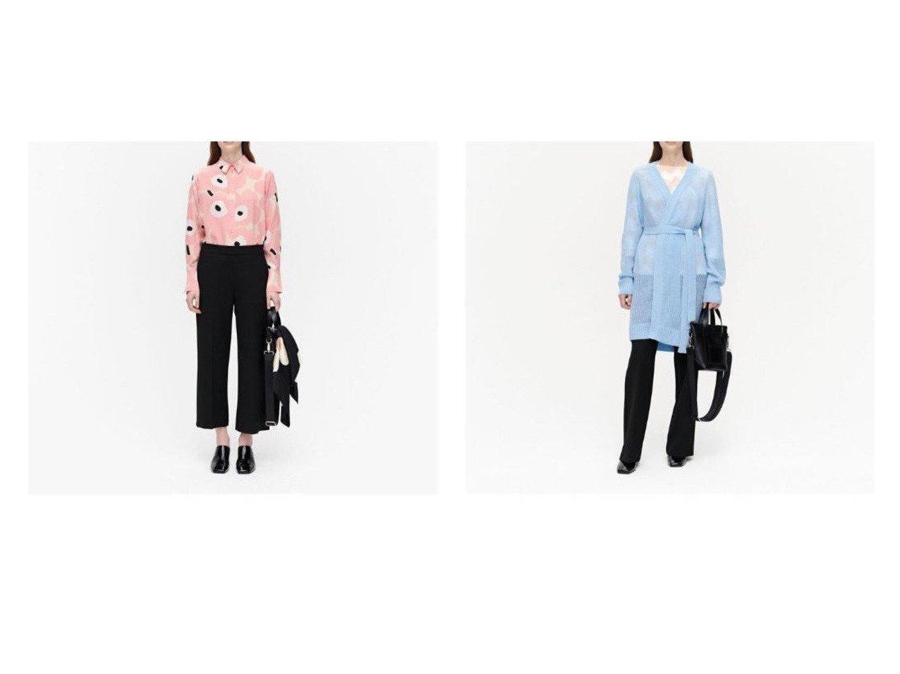 【marimekko/マリメッコ】のHakku Solid パンツ&Frustum ニットカーディガン マリメッコのおすすめ!人気、トレンド・レディースファッションの通販 おすすめで人気の流行・トレンド、ファッションの通販商品 メンズファッション・キッズファッション・インテリア・家具・レディースファッション・服の通販 founy(ファニー) https://founy.com/ ファッション Fashion レディースファッション WOMEN トップス カットソー Tops Tshirt ニット Knit Tops カーディガン Cardigans パンツ Pants おすすめ Recommend カーディガン シンプル センター ベーシック ポケット |ID:crp329100000021908