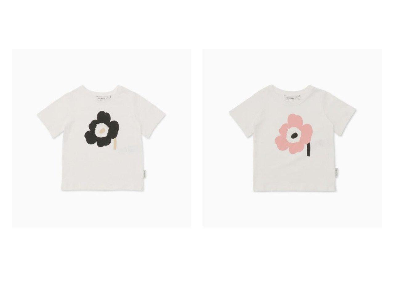 【marimekko / KIDS/マリメッコ】の[KIDS]Soida Unikko 2 Tシャツ&[KIDS]Soida Unikko 1 Tシャツ マリメッコのおすすめ!人気、トレンド・レディースファッションの通販 おすすめで人気の流行・トレンド、ファッションの通販商品 メンズファッション・キッズファッション・インテリア・家具・レディースファッション・服の通販 founy(ファニー) https://founy.com/ ファッション Fashion キッズファッション KIDS トップス カットソー Tops Tees Kids フロント プリント モチーフ |ID:crp329100000021913