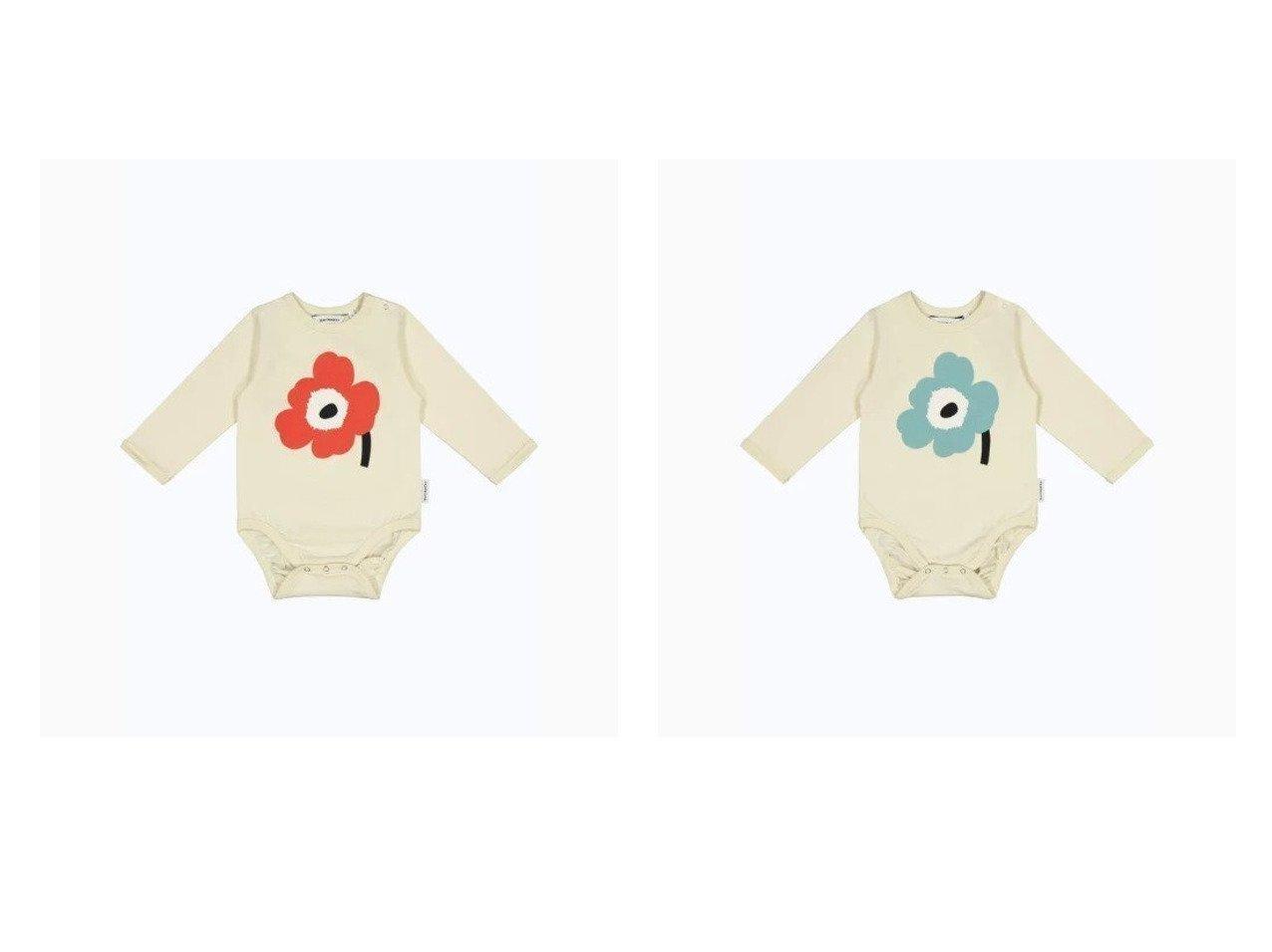 【marimekko / KIDS/マリメッコ】の[KIDS]Vinde Unikko 長袖ロンパース マリメッコのおすすめ!人気、トレンド・レディースファッションの通販 おすすめで人気の流行・トレンド、ファッションの通販商品 メンズファッション・キッズファッション・インテリア・家具・レディースファッション・服の通販 founy(ファニー) https://founy.com/ ファッション Fashion キッズファッション KIDS おすすめ Recommend フロント プリント ベビー モチーフ ロンパース 長袖 |ID:crp329100000021914