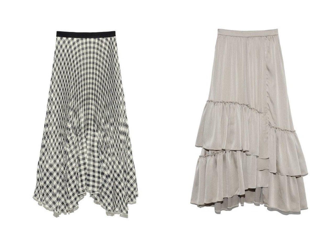 【Lily Brown/リリーブラウン】のギンガムチェックプリーツスカート&ランダムティアードスカート リリーブラウンのおすすめ!人気、トレンド・レディースファッションの通販 おすすめで人気の流行・トレンド、ファッションの通販商品 メンズファッション・キッズファッション・インテリア・家具・レディースファッション・服の通販 founy(ファニー) https://founy.com/ 雑誌掲載アイテム Magazine items ファッション雑誌 Fashion magazines アール ar ファッション Fashion レディースファッション WOMEN スカート Skirt プリーツスカート Pleated Skirts ロングスカート Long Skirt ティアードスカート Tiered Skirts S/S 春夏 SS Spring/Summer ギンガム サテン シアー チェック フェミニン プリーツ ラベンダー ロング 春 Spring NEW・新作・新着・新入荷 New Arrivals 2月号 カットソー ティアードスカート バランス フリル プレーン ランダム 雑誌 |ID:crp329100000022024