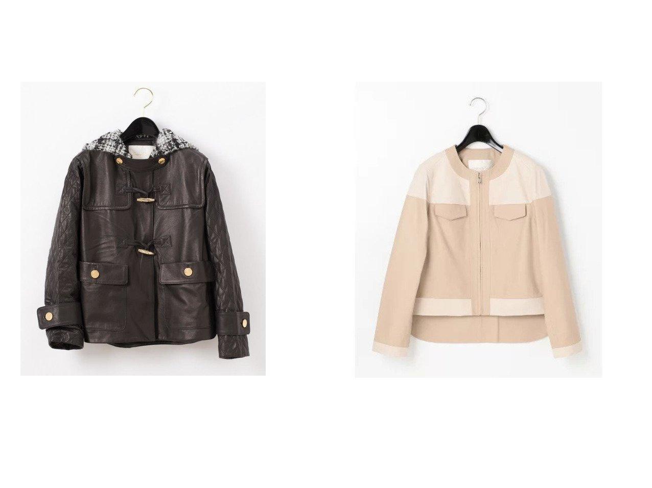 【GRACE CONTINENTAL/グレース コンチネンタル】のツイードフードレザージャケット&バイカラーレザージャケット グレース コンチネンタルのおすすめ!人気、トレンド・レディースファッションの通販 おすすめで人気の流行・トレンド、ファッションの通販商品 メンズファッション・キッズファッション・インテリア・家具・レディースファッション・服の通販 founy(ファニー) https://founy.com/ ファッション Fashion レディースファッション WOMEN アウター Coat Outerwear コート Coats ジャケット Jackets ダッフルコート Duffle Coats ブルゾン Blouson Jackets キルティング クラシック ジャケット ダッフルコート バランス ビンテージ フランス メタル ラグジュアリー 再入荷 Restock/Back in Stock/Re Arrival シンプル パターン フレア ブルゾン |ID:crp329100000022030