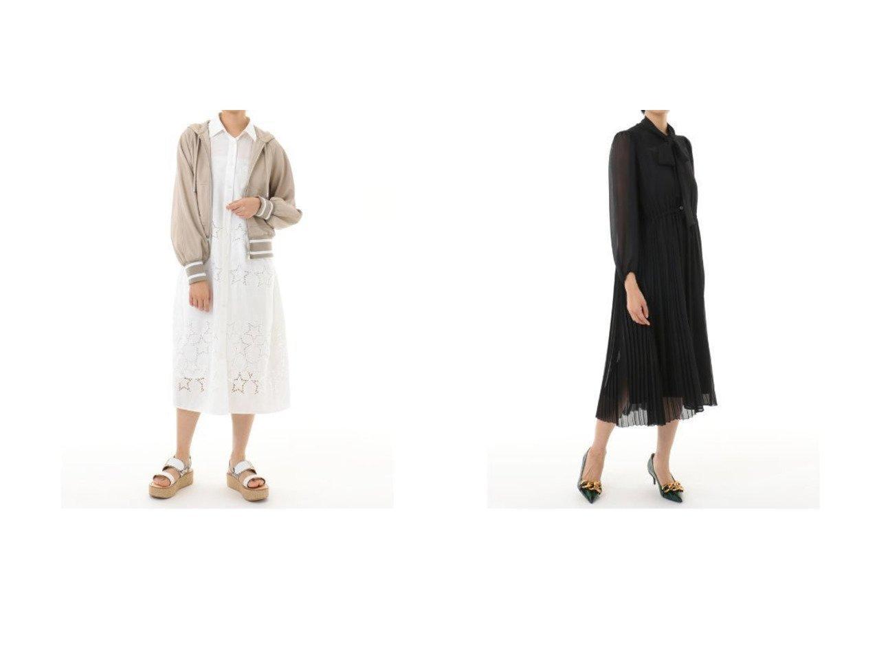 【GRACE CONTINENTAL/グレース コンチネンタル】のレザーパーカー&ボウタイプリーツドレス グレース コンチネンタルのおすすめ!人気、トレンド・レディースファッションの通販 おすすめで人気の流行・トレンド、ファッションの通販商品 メンズファッション・キッズファッション・インテリア・家具・レディースファッション・服の通販 founy(ファニー) https://founy.com/ ファッション Fashion レディースファッション WOMEN ワンピース Dress ドレス Party Dresses アウター Coat Outerwear ジャケット Jackets ブルゾン Blouson Jackets クラシカル シアー シャーリング スリーブ ドレス バランス フェミニン フォーマル プリーツ ヨーク レース ロング ジャケット ジャージ ダウン デニム パーカー ブルゾン ボンディング ミックス ワイド 春 Spring |ID:crp329100000022032