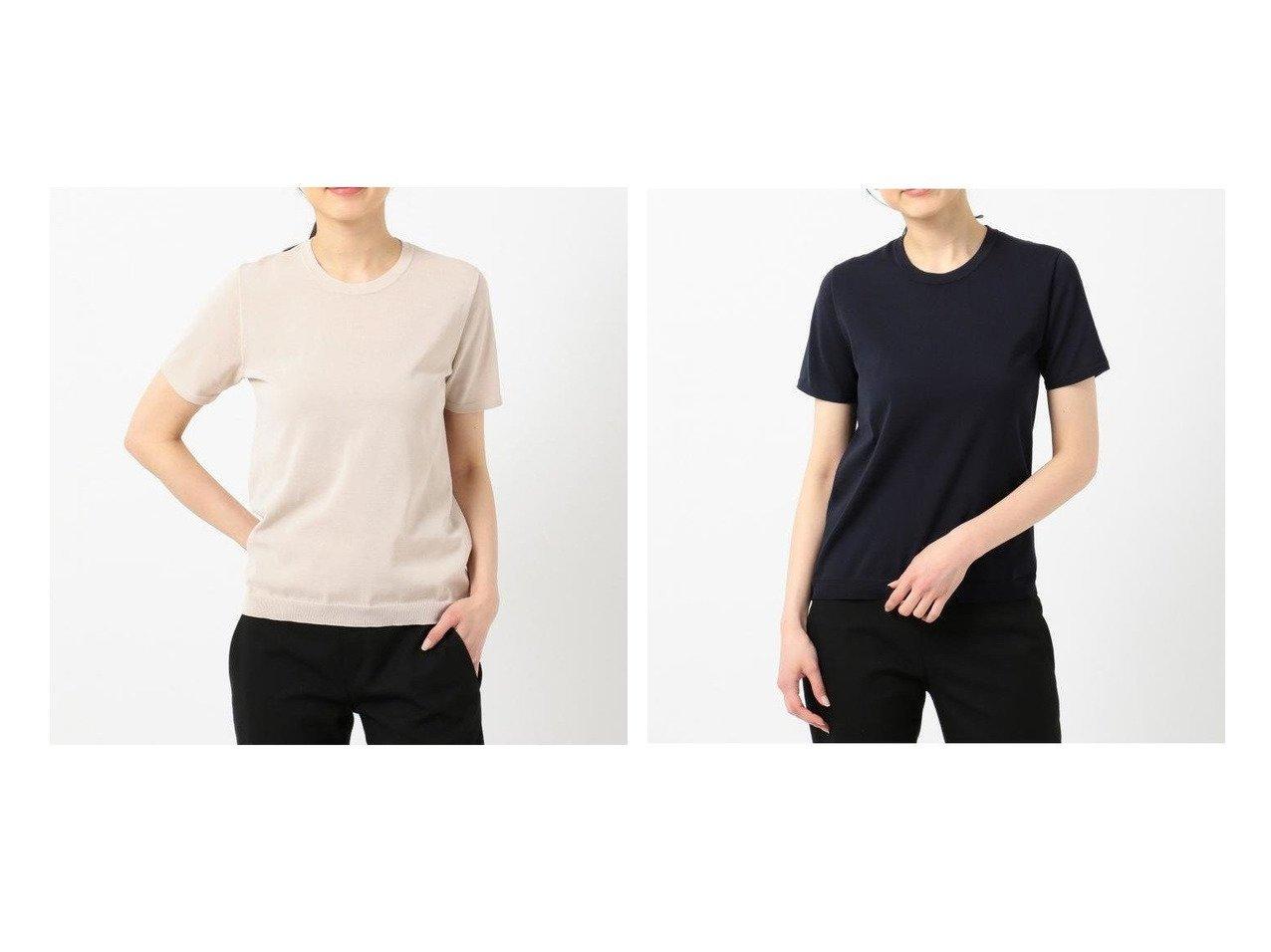 【iCB/アイシービー】のHiTwist Cotton 半袖ニット iCBのおすすめ!人気、トレンド・レディースファッションの通販  おすすめで人気の流行・トレンド、ファッションの通販商品 メンズファッション・キッズファッション・インテリア・家具・レディースファッション・服の通販 founy(ファニー) https://founy.com/ ファッション Fashion レディースファッション WOMEN トップス カットソー Tops Tshirt ニット Knit Tops イエロー インナー コンパクト セーター ベーシック ホールガーメント 人気 半袖 定番 Standard |ID:crp329100000022109
