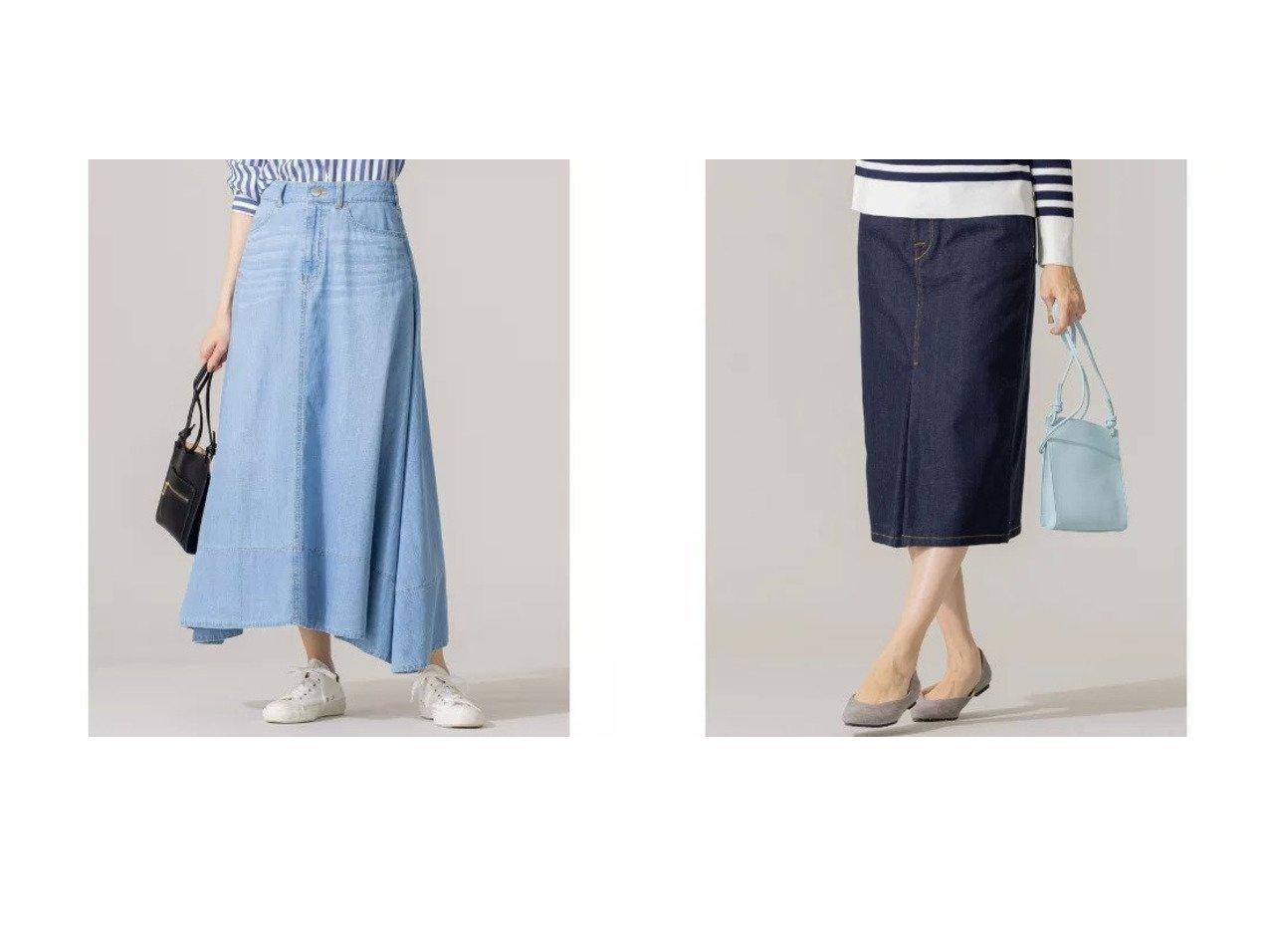 【KUMIKYOKU/組曲】の【洗える】ライトオンス デニム マキシ デニムスカート&【洗える】AQUATIC DENIM デニムスカート 組曲のおすすめ!人気、トレンド・レディースファッションの通販 おすすめで人気の流行・トレンド、ファッションの通販商品 メンズファッション・キッズファッション・インテリア・家具・レディースファッション・服の通販 founy(ファニー) https://founy.com/ ファッション Fashion レディースファッション WOMEN スカート Skirt デニムスカート Denim Skirts 春 Spring 洗える コンパクト タイツ デニム ドレープ フレア マキシ ロング 2021年 2021 S/S 春夏 SS Spring/Summer 2021 春夏 S/S SS Spring/Summer 2021 おすすめ Recommend スニーカー フロント ボーダー |ID:crp329100000022351