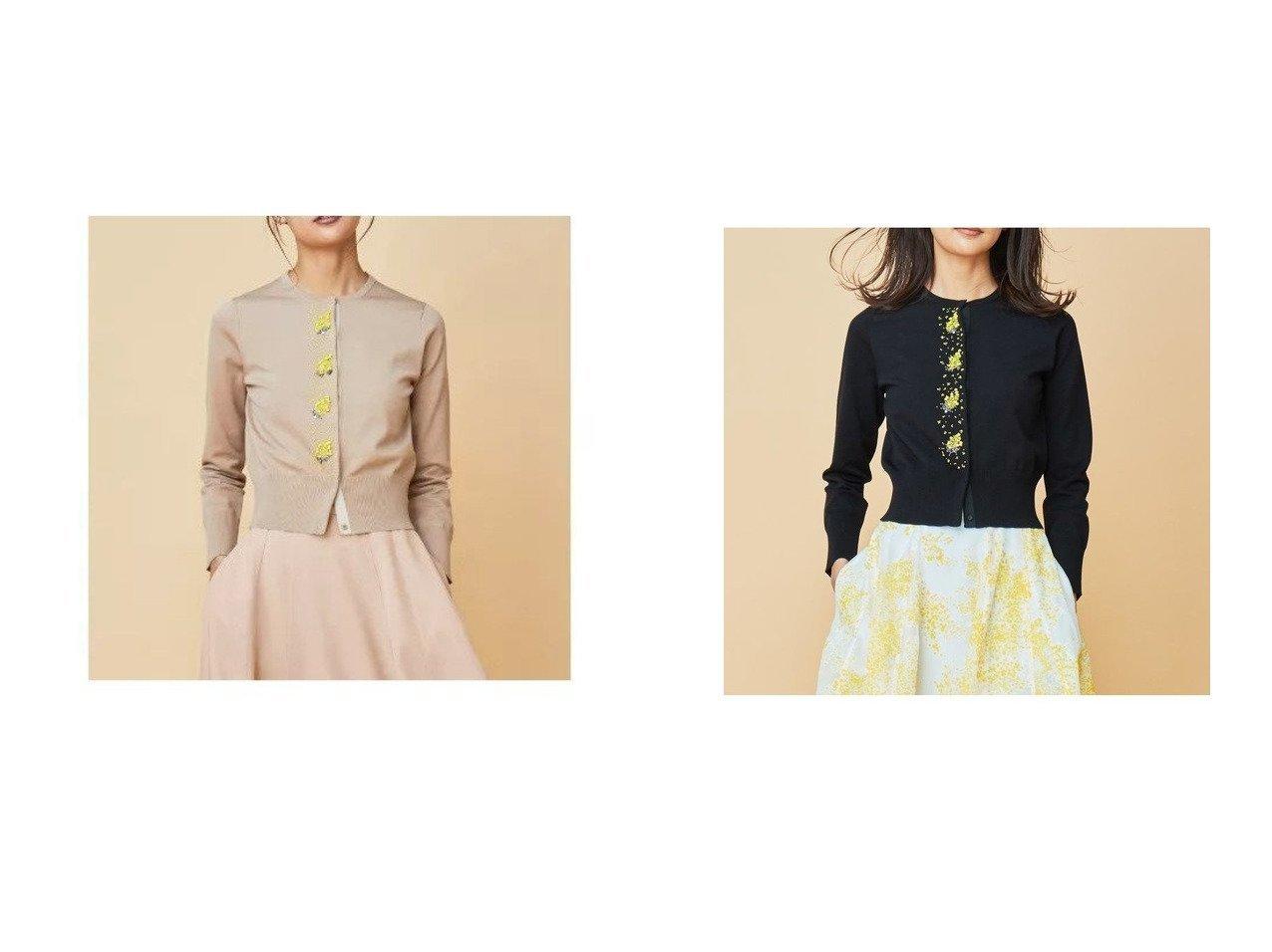 【KUMIKYOKU/組曲】の【Rythme KUMIKYOKU】Mimosa Beads カーディガン&【Rythme KUMIKYOKU】Mimosa Beads カーディガン 組曲のおすすめ!人気、トレンド・レディースファッションの通販 おすすめで人気の流行・トレンド、ファッションの通販商品 メンズファッション・キッズファッション・インテリア・家具・レディースファッション・服の通販 founy(ファニー) https://founy.com/ ファッション Fashion レディースファッション WOMEN トップス カットソー Tops Tshirt カーディガン Cardigans 2021年 2021 2021 春夏 S/S SS Spring/Summer 2021 S/S 春夏 SS Spring/Summer カーディガン クラシカル コンパクト ストレッチ ドレス ベーシック モチーフ 再入荷 Restock/Back in Stock/Re Arrival |ID:crp329100000022353