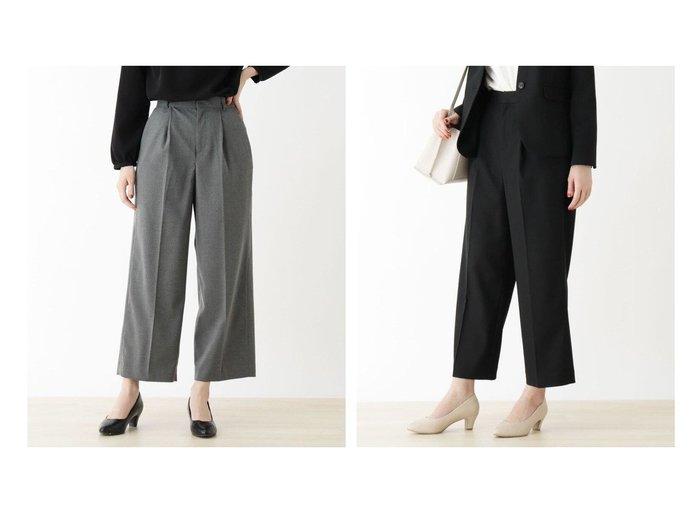 【SHOO LA RUE / DRESKIP/シューラルー ドレスキップ】の【M-洗える】キャリ-マンワイドパンツ パンツのおすすめ!人気、トレンド・レディースファッションの通販 おすすめ人気トレンドファッション通販アイテム 人気、トレンドファッション・服の通販 founy(ファニー) ファッション Fashion レディースファッション WOMEN パンツ Pants ジャケット ストレッチ スーツ セットアップ センター フィット ワイド 再入荷 Restock/Back in Stock/Re Arrival 洗える |ID:crp329100000022385