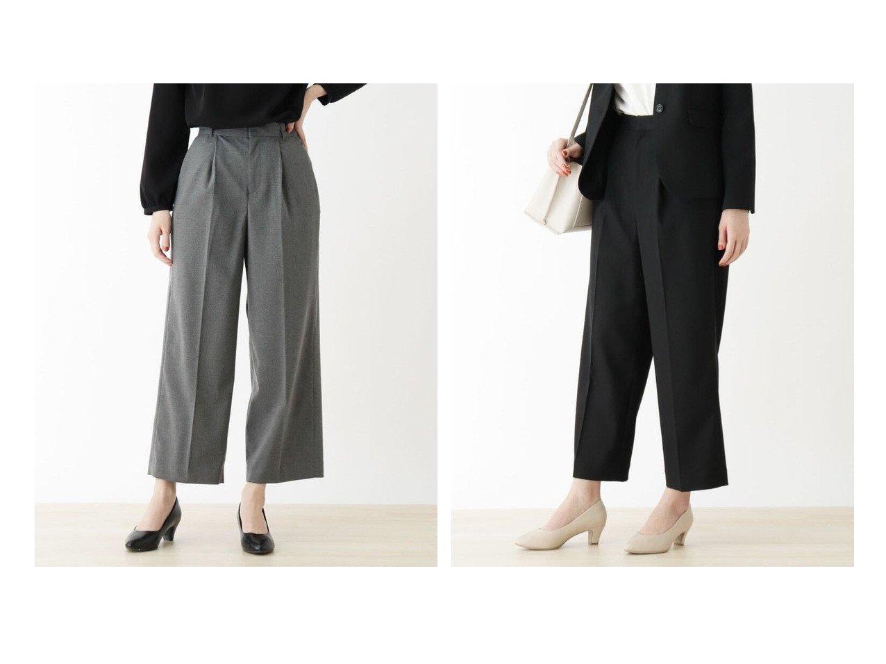 【SHOO LA RUE / DRESKIP/シューラルー ドレスキップ】の【M-洗える】キャリ-マンワイドパンツ パンツのおすすめ!人気、トレンド・レディースファッションの通販 おすすめで人気の流行・トレンド、ファッションの通販商品 メンズファッション・キッズファッション・インテリア・家具・レディースファッション・服の通販 founy(ファニー) https://founy.com/ ファッション Fashion レディースファッション WOMEN パンツ Pants ジャケット ストレッチ スーツ セットアップ センター フィット ワイド 再入荷 Restock/Back in Stock/Re Arrival 洗える |ID:crp329100000022385