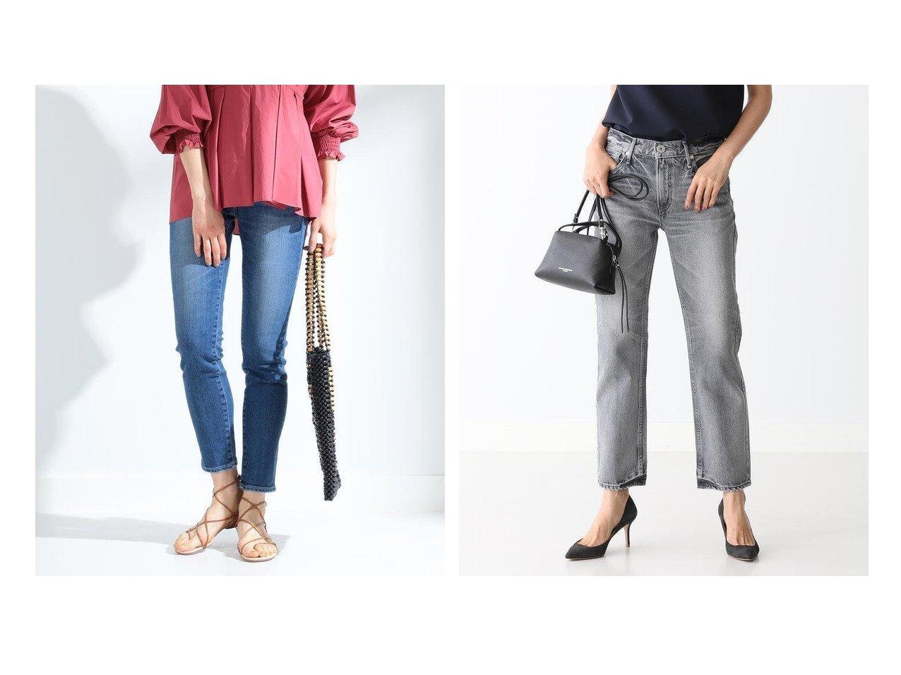 【Ray BEAMS/レイ ビームス】のAnniversary スリム テーパード デニムパンツ&【Demi-Luxe BEAMS/デミルクス ビームス】のTHE LIPSTICK デニムパンツ パンツのおすすめ!人気、トレンド・レディースファッションの通販 おすすめで人気の流行・トレンド、ファッションの通販商品 メンズファッション・キッズファッション・インテリア・家具・レディースファッション・服の通販 founy(ファニー) https://founy.com/ ファッション Fashion レディースファッション WOMEN パンツ Pants デニムパンツ Denim Pants コレクション ジーンズ ストレッチ スリム テーパード デニム 再入荷 Restock/Back in Stock/Re Arrival パターン フィット おすすめ Recommend |ID:crp329100000022389