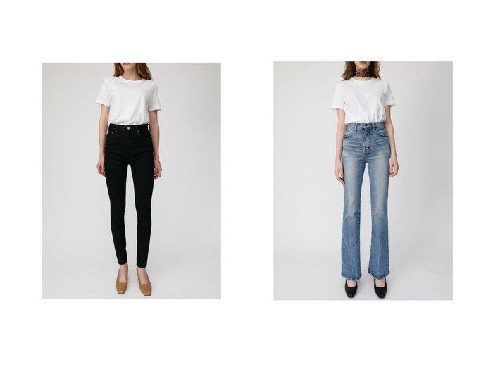 【moussy/マウジー】のMVS FLARE(L)&HW Rebirth BLACK SKINNY パンツのおすすめ!人気、トレンド・レディースファッションの通販 おすすめファッション通販アイテム インテリア・キッズ・メンズ・レディースファッション・服の通販 founy(ファニー) https://founy.com/ ファッション Fashion レディースファッション WOMEN パンツ Pants デニムパンツ Denim Pants シンプル スキニー ストレッチ デニム パフォーマンス 再入荷 Restock/Back in Stock/Re Arrival コンパクト ジップアップ ダメージ フレア ポケット ロング |ID:crp329100000022430