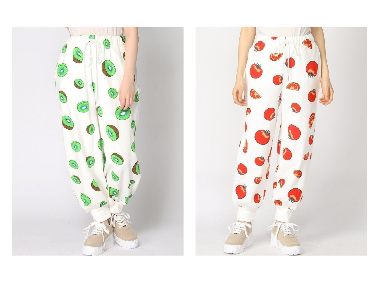 【PUNYUS/プニュズ】のフード総柄スウェットパンツ パンツのおすすめ!人気、トレンド・レディースファッションの通販 おすすめで人気の流行・トレンド、ファッションの通販商品 メンズファッション・キッズファッション・インテリア・家具・レディースファッション・服の通販 founy(ファニー) https://founy.com/ ファッション Fashion レディースファッション WOMEN パンツ Pants ジーンズ スニーカー リラックス |ID:crp329100000022444