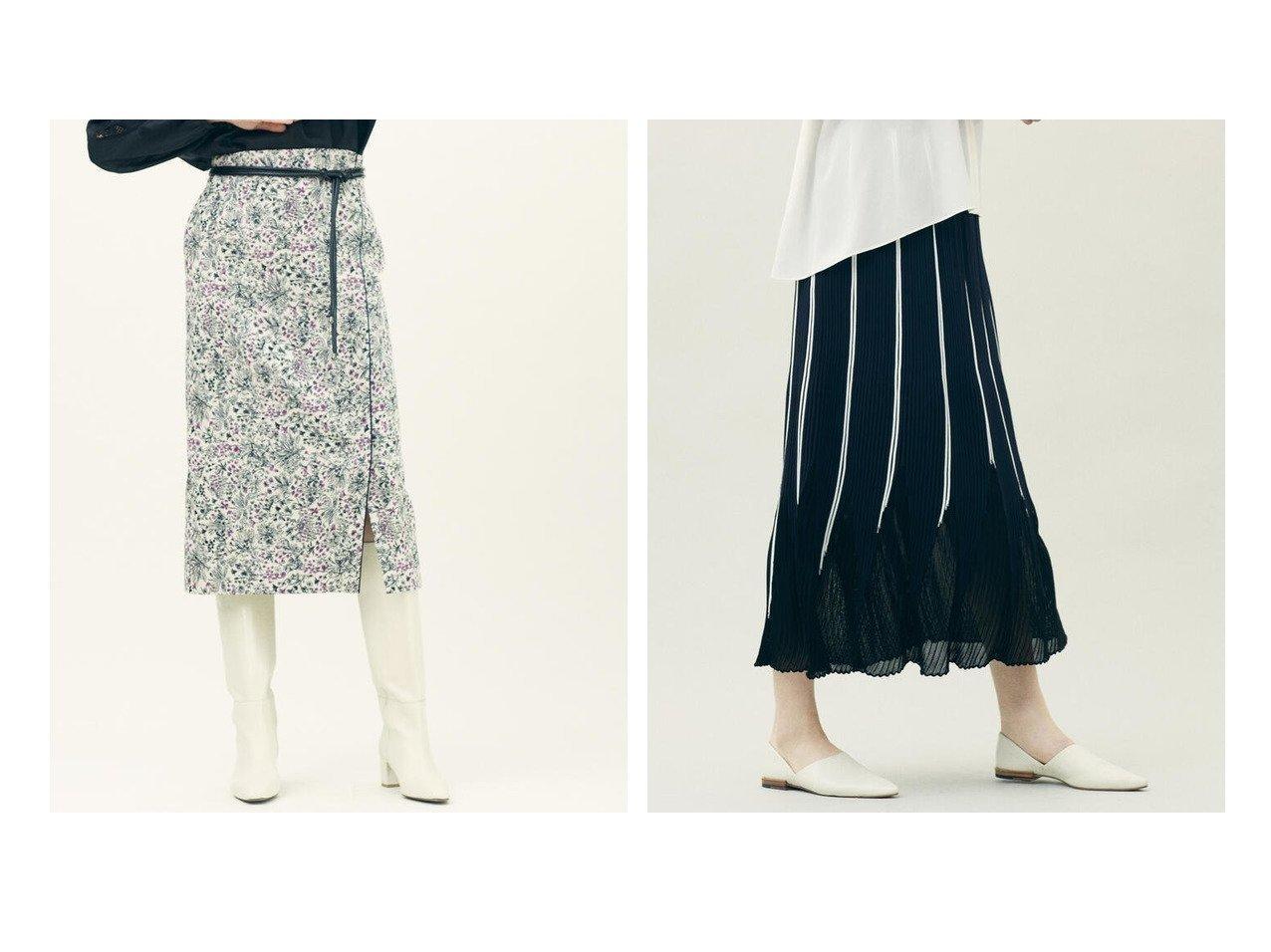 【DES PRES / TOMORROWLAND/デプレ】のシャンブレーニット フレアロングスカート&【TOMORROWLAND collection/トゥモローランド コレクション】のグラスランドジャカード ミディタイトスカート スカートのおすすめ!人気、トレンド・レディースファッションの通販 おすすめで人気の流行・トレンド、ファッションの通販商品 メンズファッション・キッズファッション・インテリア・家具・レディースファッション・服の通販 founy(ファニー) https://founy.com/ ファッション Fashion レディースファッション WOMEN スカート Skirt Aライン/フレアスカート Flared A-Line Skirts ロングスカート Long Skirt 2021年 2021 2021 春夏 S/S SS Spring/Summer 2021 S/S 春夏 SS Spring/Summer エレガント クラシカル シンプル ジャカード タイトスカート パイピング パープル フラワー フロント モチーフ ラップ 再入荷 Restock/Back in Stock/Re Arrival おすすめ Recommend ギャザー シューズ フラット フレア プリーツ ロング 軽量  ID:crp329100000022461