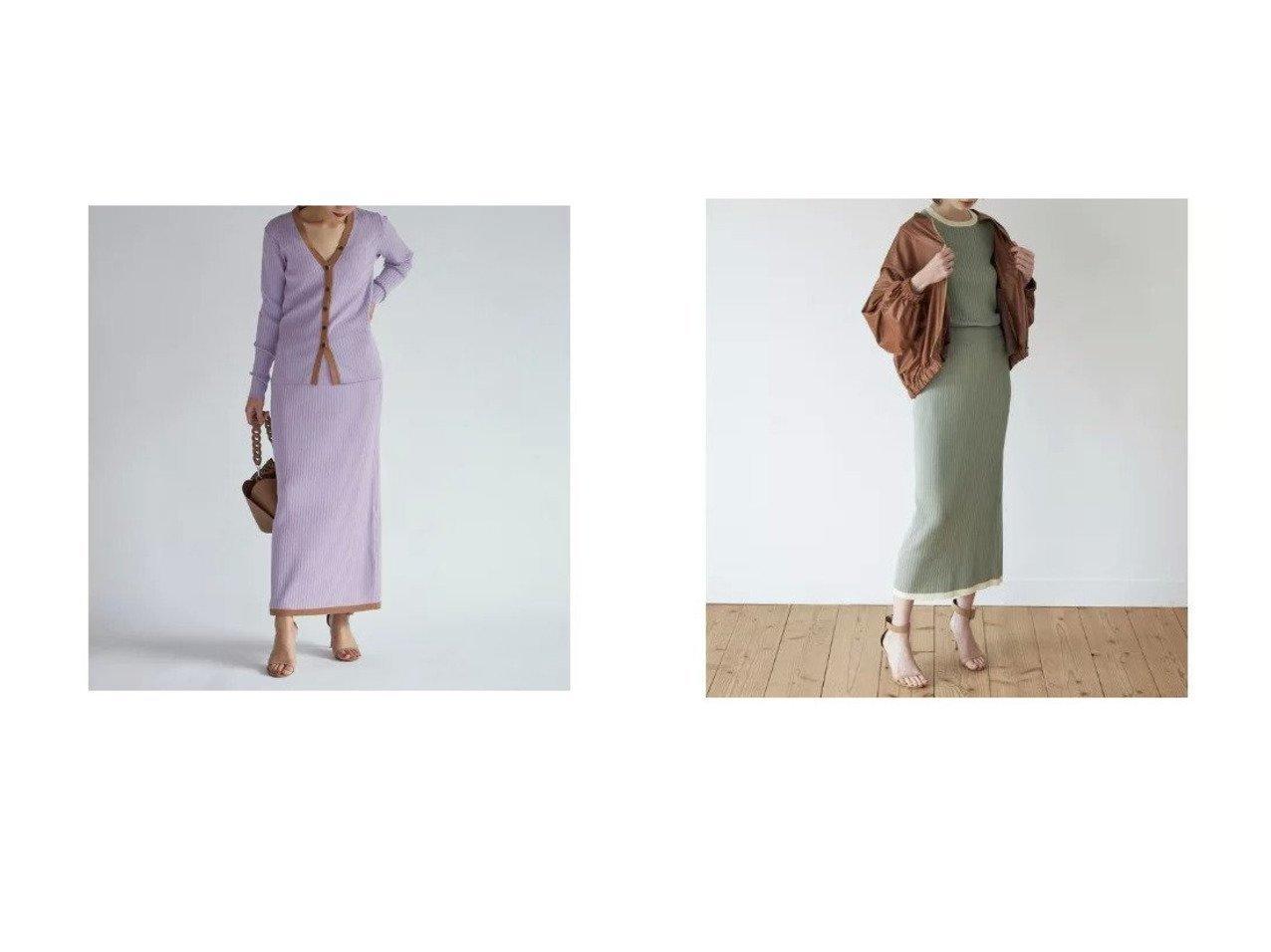 【CLEAR IMPRESSION/クリアインプレッション】のバイカラータイトスカート スカートのおすすめ!人気、トレンド・レディースファッションの通販 おすすめで人気の流行・トレンド、ファッションの通販商品 メンズファッション・キッズファッション・インテリア・家具・レディースファッション・服の通販 founy(ファニー) https://founy.com/ ファッション Fashion レディースファッション WOMEN スカート Skirt カーディガン セットアップ  ID:crp329100000022466