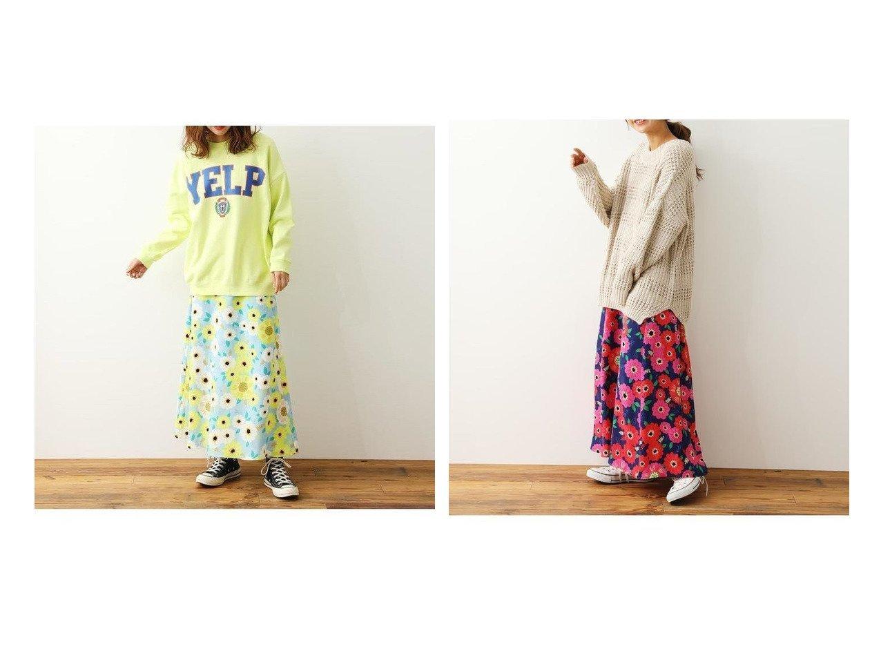 【RODEO CROWNS WIDE BOWL/ロデオクラウンズワイドボウル】のPoppy Bloomスカート スカートのおすすめ!人気、トレンド・レディースファッションの通販 おすすめで人気の流行・トレンド、ファッションの通販商品 メンズファッション・キッズファッション・インテリア・家具・レディースファッション・服の通販 founy(ファニー) https://founy.com/ ファッション Fashion レディースファッション WOMEN スカート Skirt NEW・新作・新着・新入荷 New Arrivals フレア プリント 楽ちん |ID:crp329100000022491