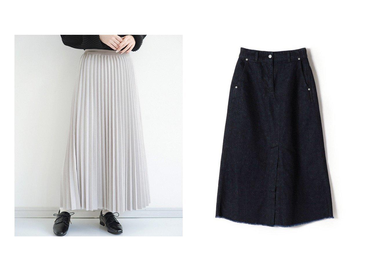 【haco/ハコ】のたちまち旬顔!ニットにもスウェットにも似合うフェイクスエードのプリーツスカート by Nohea&【SHIPS/シップス フォー ウィメン】のPrimaryNavyLabel Aラインデニムスカート スカートのおすすめ!人気、トレンド・レディースファッションの通販 おすすめで人気の流行・トレンド、ファッションの通販商品 メンズファッション・キッズファッション・インテリア・家具・レディースファッション・服の通販 founy(ファニー) https://founy.com/ ファッション Fashion レディースファッション WOMEN スカート Skirt プリーツスカート Pleated Skirts デニムスカート Denim Skirts Aライン/フレアスカート Flared A-Line Skirts スウェット スニーカー チュニック トレンド なめらか ビッグ フェイクスエード プリーツ ポケット 楽ちん A/W 秋冬 AW Autumn/Winter / FW Fall-Winter 再入荷 Restock/Back in Stock/Re Arrival NEW・新作・新着・新入荷 New Arrivals スリット デニム フィット フリンジ フロント ベーシック ロング |ID:crp329100000022494