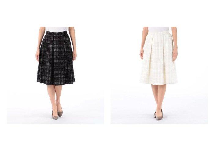 【MELROSE claire/メルローズ クレール】のツィードタックフレアースカート スカートのおすすめ!人気、トレンド・レディースファッションの通販 おすすめファッション通販アイテム レディースファッション・服の通販 founy(ファニー)  ファッション Fashion レディースファッション WOMEN スカート Skirt クラシカル ジャケット チェック ツィード マキシ ロング |ID:crp329100000022534