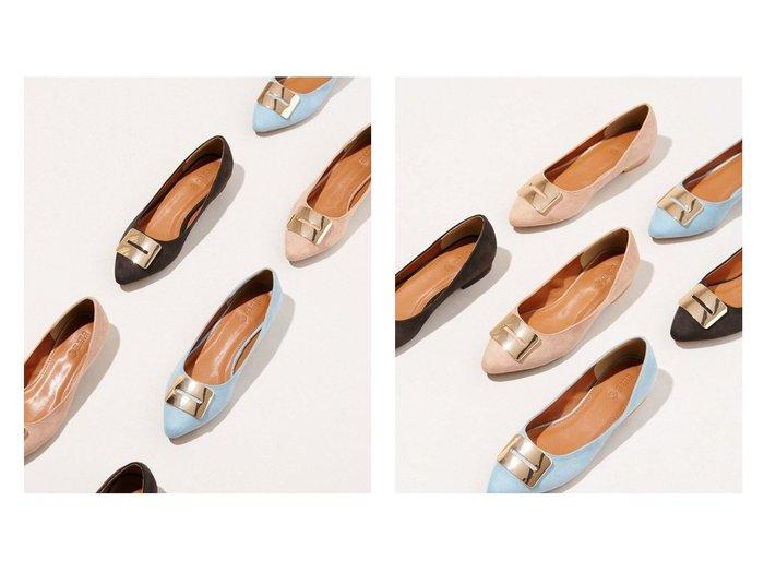 【nano universe/ナノ ユニバース】のメタルフラットパンプス シューズ・靴のおすすめ!人気、トレンド・レディースファッションの通販 おすすめファッション通販アイテム インテリア・キッズ・メンズ・レディースファッション・服の通販 founy(ファニー) https://founy.com/ ファッション Fashion レディースファッション WOMEN NEW・新作・新着・新入荷 New Arrivals アーモンドトゥ インソール エレガント クッション シューズ スクエア フェイクスエード フォルム フラット メタル モチーフ |ID:crp329100000022546