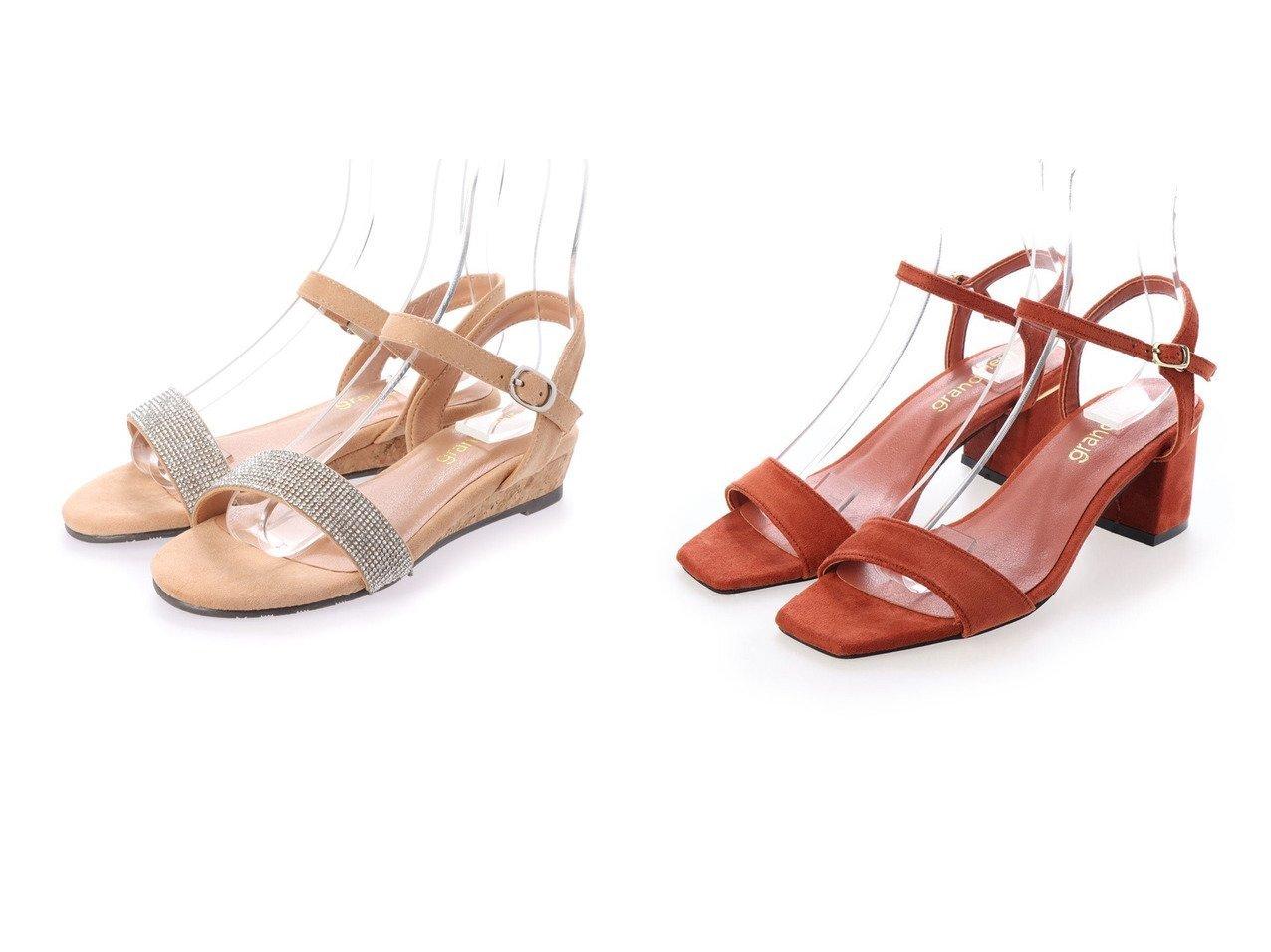 【grandfleur/グランドフルール】のラインストーンデザインのローヒールサンダル&スクエアトゥのヒールキャップデザインサンダル シューズ・靴のおすすめ!人気、トレンド・レディースファッションの通販 おすすめで人気の流行・トレンド、ファッションの通販商品 メンズファッション・キッズファッション・インテリア・家具・レディースファッション・服の通販 founy(ファニー) https://founy.com/ ファッション Fashion レディースファッション WOMEN 2020年 2020 2020 春夏 S/S SS Spring/Summer 2020 S/S 春夏 SS Spring/Summer ストーン フィット 定番 Standard 春 Spring |ID:crp329100000022558