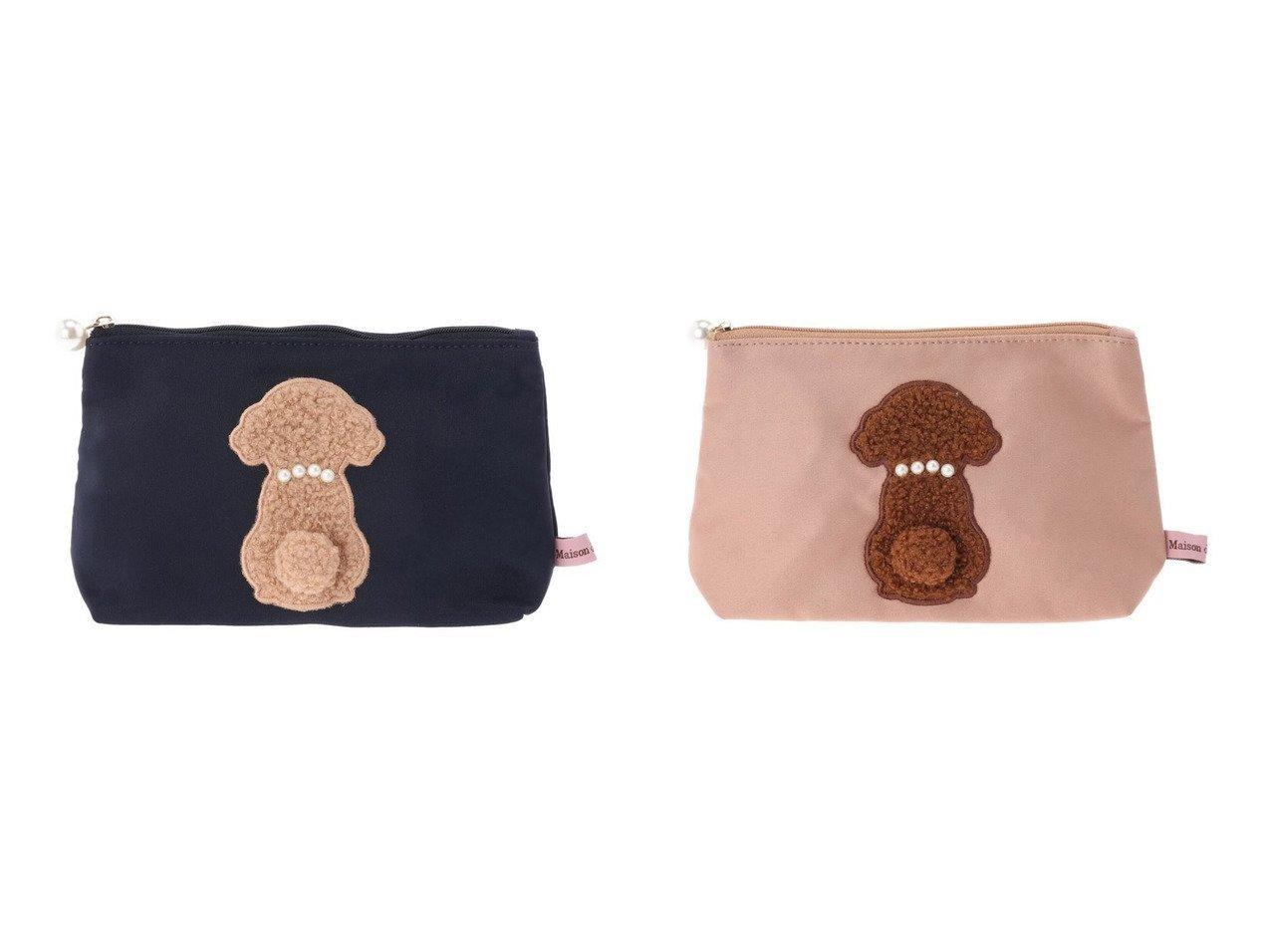 【Maison de FLEUR/メゾンドフルール】のプードルパールポーチ バッグ・鞄のおすすめ!人気、トレンド・レディースファッションの通販 おすすめで人気の流行・トレンド、ファッションの通販商品 メンズファッション・キッズファッション・インテリア・家具・レディースファッション・服の通販 founy(ファニー) https://founy.com/ ファッション Fashion レディースファッション WOMEN バッグ Bag ポーチ Pouches サテン ポーチ |ID:crp329100000022625