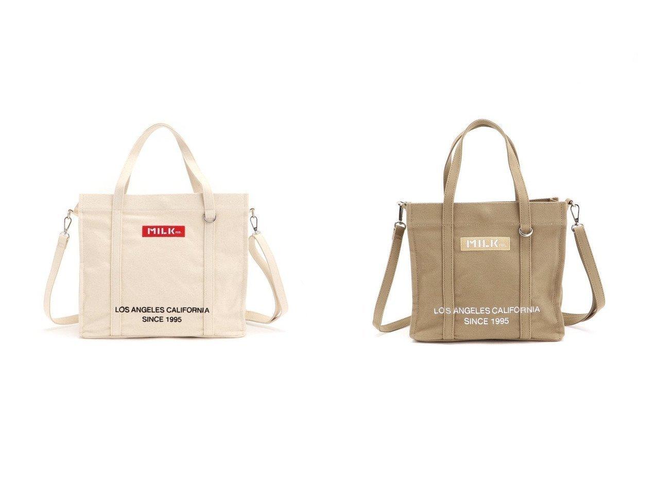 【MILKFED./ミルクフェド】のBAR AND UNDER LOGO 2WAY TOTE MINI&BAR AND UNDER LOGO 2WAY TOTE バッグ・鞄のおすすめ!人気、トレンド・レディースファッションの通販 おすすめで人気の流行・トレンド、ファッションの通販商品 メンズファッション・キッズファッション・インテリア・家具・レディースファッション・服の通販 founy(ファニー) https://founy.com/ ファッション Fashion レディースファッション WOMEN バッグ Bag キャンバス コンパクト ハンドバッグ ポケット 人気 |ID:crp329100000022627
