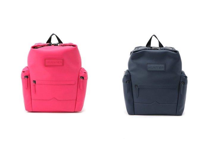 【HUNTER/ハンター】のORG TOPCLIP BACKPACK-RUB LTH バッグ・鞄のおすすめ!人気、トレンド・レディースファッションの通販 おすすめファッション通販アイテム レディースファッション・服の通販 founy(ファニー) ファッション Fashion レディースファッション WOMEN バッグ Bag フロント ポケット ラップ リュック |ID:crp329100000022631