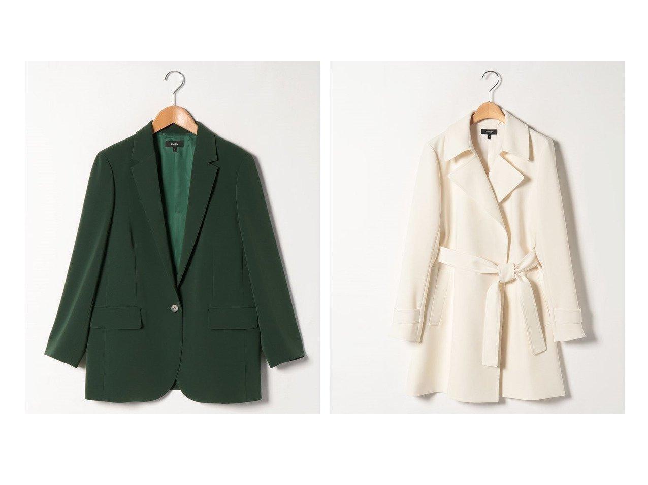 【theory/セオリー】のジャケット CLASSIC CREPE CASUAL BLAZ&コート CLASSIC CREPE SHORT OAKLA アウターのおすすめ!人気、トレンド・レディースファッションの通販 おすすめで人気の流行・トレンド、ファッションの通販商品 メンズファッション・キッズファッション・インテリア・家具・レディースファッション・服の通販 founy(ファニー) https://founy.com/ ファッション Fashion レディースファッション WOMEN アウター Coat Outerwear ジャケット Jackets テーラードジャケット Tailored Jackets コート Coats トレンチコート Trench Coats NEW・新作・新着・新入荷 New Arrivals コンパクト ジャケット ドレープ ファブリック フィット フェミニン ブレスレット 吸水 |ID:crp329100000022639