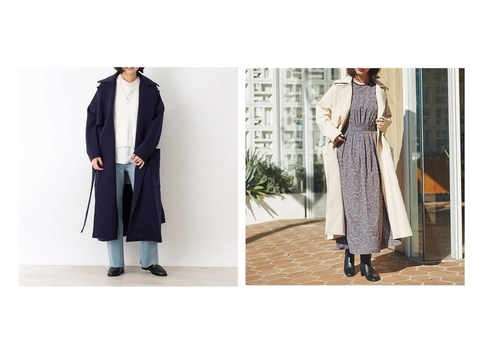【Rouge vif la cle/ルージュヴィフラクレ】のジャージーコート アウターのおすすめ!人気、トレンド・レディースファッションの通販 おすすめファッション通販アイテム インテリア・キッズ・メンズ・レディースファッション・服の通販 founy(ファニー) https://founy.com/ ファッション Fashion レディースファッション WOMEN アウター Coat Outerwear コート Coats トレンチコート Trench Coats エアリー ジャージー 再入荷 Restock/Back in Stock/Re Arrival 冬 Winter 春 Spring |ID:crp329100000022643