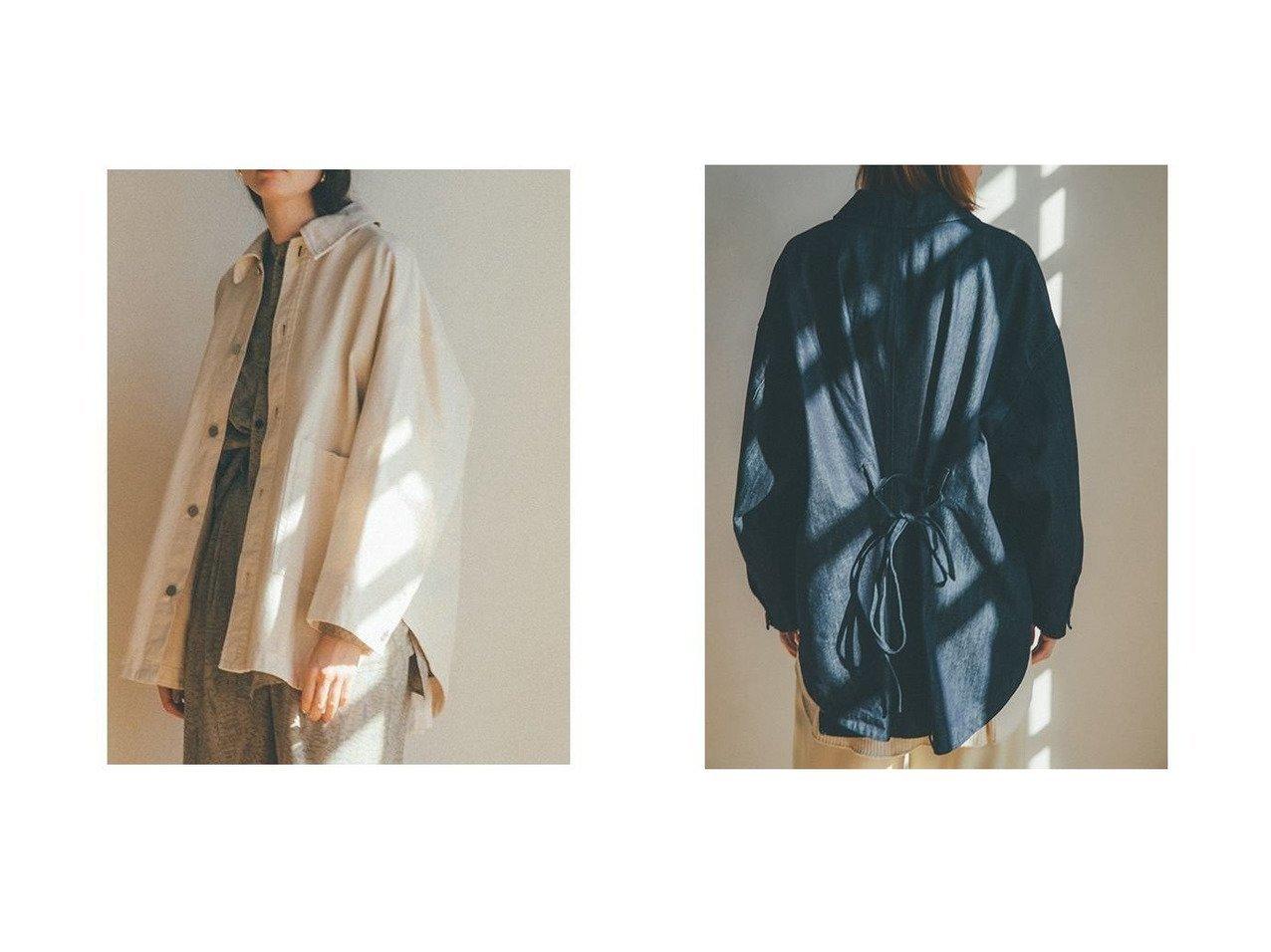 【CLANE/クラネ】のBACK SQUEEZE DENIM JK アウターのおすすめ!人気、トレンド・レディースファッションの通販 おすすめで人気の流行・トレンド、ファッションの通販商品 メンズファッション・キッズファッション・インテリア・家具・レディースファッション・服の通販 founy(ファニー) https://founy.com/ ファッション Fashion レディースファッション WOMEN アウター Coat Outerwear ジャケット Jackets おすすめ Recommend インディゴ シンプル ジャケット デニム ラウンド リボン |ID:crp329100000022646