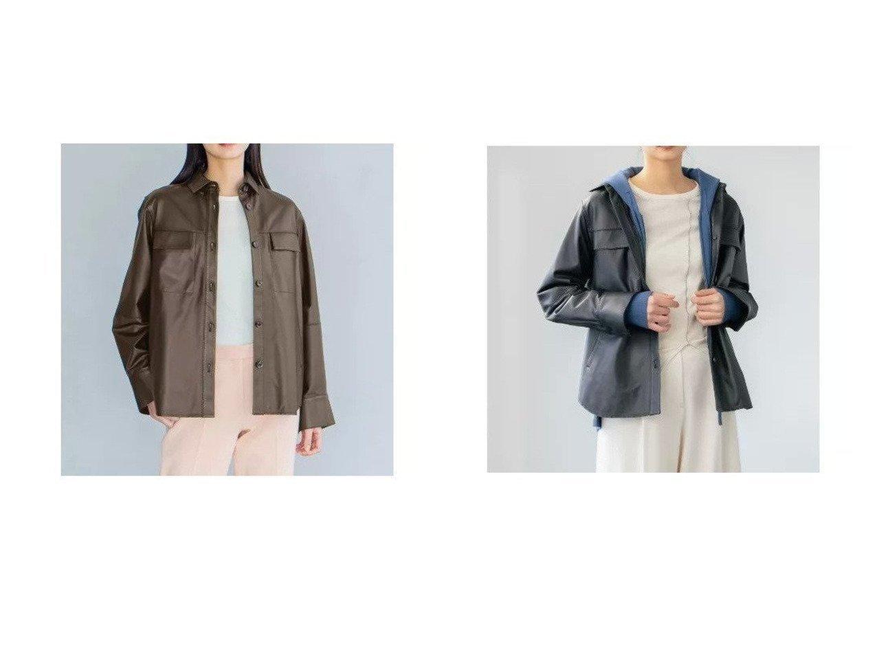 【JOSEPH/ジョゼフ】の【JOSEPH STUDIO】レザーシャツジャケット アウターのおすすめ!人気、トレンド・レディースファッションの通販 おすすめで人気の流行・トレンド、ファッションの通販商品 メンズファッション・キッズファッション・インテリア・家具・レディースファッション・服の通販 founy(ファニー) https://founy.com/ ファッション Fashion レディースファッション WOMEN アウター Coat Outerwear ジャケット Jackets インナー 春 Spring クール 今季 軽量 ジャケット ドレス 人気 フラップ ベーシック ボトム ポケット おすすめ Recommend |ID:crp329100000022656