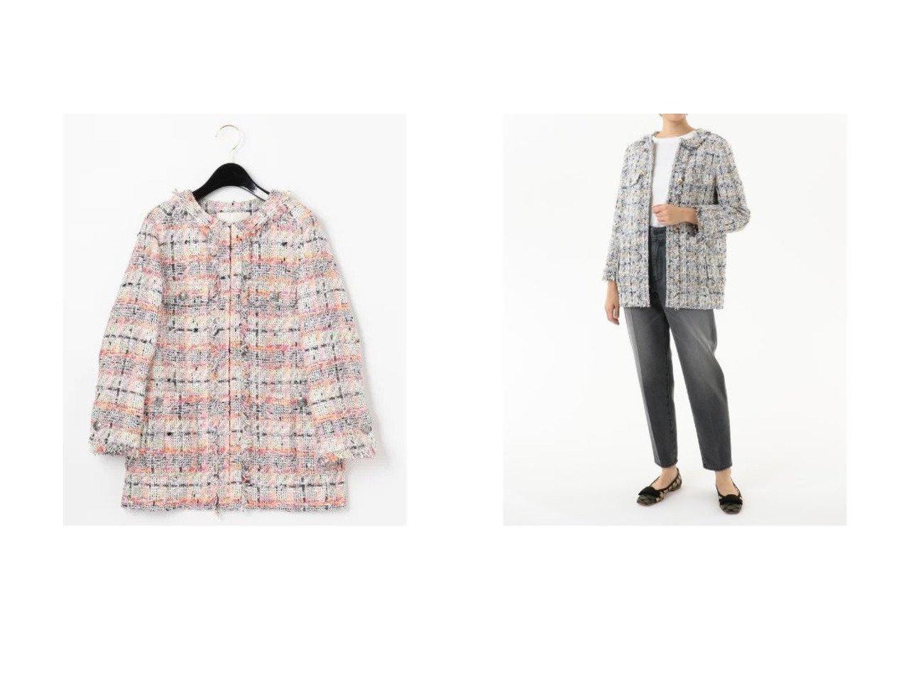 【GRACE CONTINENTAL/グレース コンチネンタル】のツイードフリンジロングジャケット アウターのおすすめ!人気、トレンド・レディースファッションの通販 おすすめで人気の流行・トレンド、ファッションの通販商品 メンズファッション・キッズファッション・インテリア・家具・レディースファッション・服の通販 founy(ファニー) https://founy.com/ ファッション Fashion レディースファッション WOMEN アウター Coat Outerwear ジャケット Jackets ジャケット ツイード デニム トレンド フェミニン フランス ポケット ミリタリー レース ロング 切替  ID:crp329100000022722