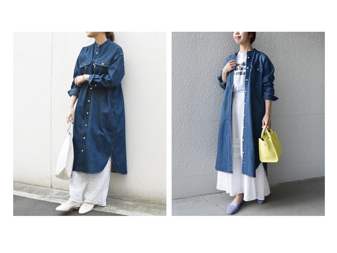 【SHIPS any/シップス エニィ】のSHIPS any バンドカラー デニム シャツワンピース[SHIPS any DENIM] ワンピース・ドレスのおすすめ!人気、トレンド・レディースファッションの通販 おすすめで人気の流行・トレンド、ファッションの通販商品 メンズファッション・キッズファッション・インテリア・家具・レディースファッション・服の通販 founy(ファニー) https://founy.com/ ファッション Fashion レディースファッション WOMEN ワンピース Dress シャツワンピース Shirt Dresses 春 Spring カフス カーディガン ショルダー ジャケット スリット デニム トレンド ドロップ ポケット メタル リラックス レース S/S 春夏 SS Spring/Summer おすすめ Recommend |ID:crp329100000022726