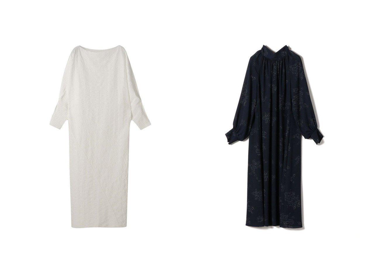 【ETRE TOKYO/エトレトウキョウ】のサッカーストライプワンピース&【SHIPS/シップス フォー ウィメン】のスタンドカラー/ボウタイ 2WAYワンピース ワンピース・ドレスのおすすめ!人気、トレンド・レディースファッションの通販 おすすめで人気の流行・トレンド、ファッションの通販商品 メンズファッション・キッズファッション・インテリア・家具・レディースファッション・服の通販 founy(ファニー) https://founy.com/ ファッション Fashion レディースファッション WOMEN ワンピース Dress インナー サッカー スリーブ バルーン フェミニン フロント モダン ランダム NEW・新作・新着・新入荷 New Arrivals シンプル スタンド フラワー プリント |ID:crp329100000022729