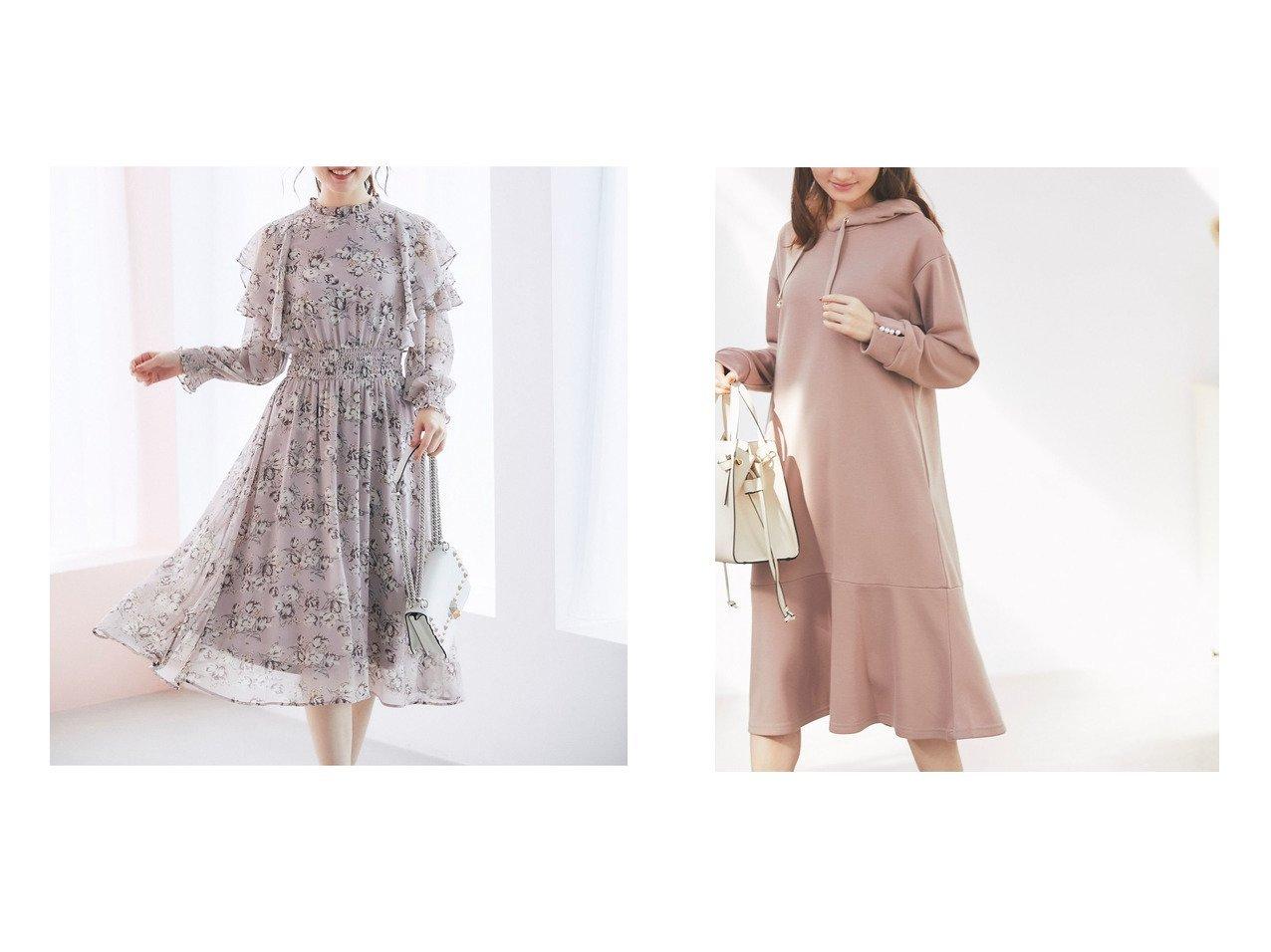 【tocco closet/トッコ クローゼット】のフリルシアースリーブフラワープリントワンピース&パール付き裾フレアパーカーワンピース ワンピース・ドレスのおすすめ!人気、トレンド・レディースファッションの通販  おすすめで人気の流行・トレンド、ファッションの通販商品 メンズファッション・キッズファッション・インテリア・家具・レディースファッション・服の通販 founy(ファニー) https://founy.com/ ファッション Fashion レディースファッション WOMEN ワンピース Dress エレガント シフォン シャーリング スリーブ フェミニン ロマンティック NEW・新作・新着・新入荷 New Arrivals お家時間・ステイホーム Home time,Stay home パーカー パール フレア |ID:crp329100000022745