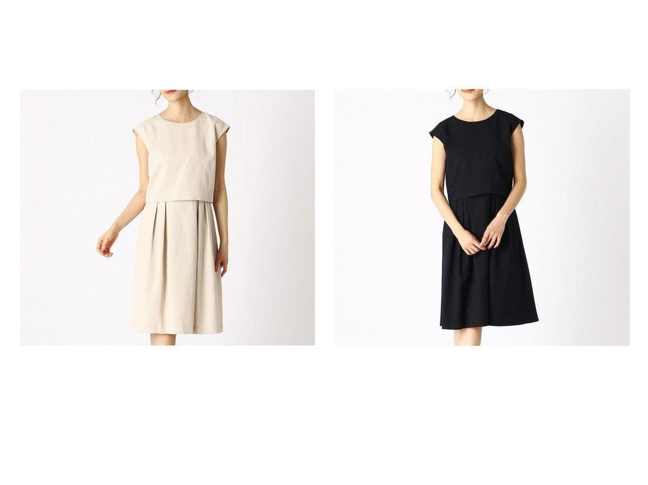 【COMME CA ISM/コムサイズム】のセットアップ対応 レイヤードワンピース ワンピース・ドレスのおすすめ!人気、トレンド・レディースファッションの通販  おすすめで人気の流行・トレンド、ファッションの通販商品 メンズファッション・キッズファッション・インテリア・家具・レディースファッション・服の通販 founy(ファニー) https://founy.com/ ファッション Fashion レディースファッション WOMEN ワンピース Dress おすすめ Recommend ジャケット セットアップ セパレート フレア |ID:crp329100000022759