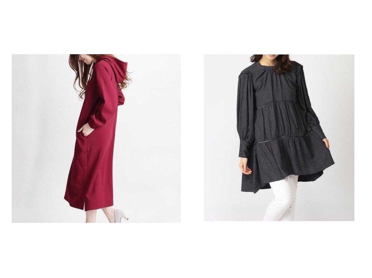 【MARTHA/マーサ】のボンディングパーカーワンピース&【JEANASiS/ジーナシス】のティアードフレアチュニック ワンピース・ドレスのおすすめ!人気、トレンド・レディースファッションの通販  おすすめで人気の流行・トレンド、ファッションの通販商品 メンズファッション・キッズファッション・インテリア・家具・レディースファッション・服の通販 founy(ファニー) https://founy.com/ ファッション Fashion レディースファッション WOMEN ワンピース Dress チュニック Tunic ボンディング ポケット NEW・新作・新着・新入荷 New Arrivals ギャザー ショート スキニー チュニック トレンド ドレープ フェミニン フラット フレア ロング 春 Spring |ID:crp329100000022760