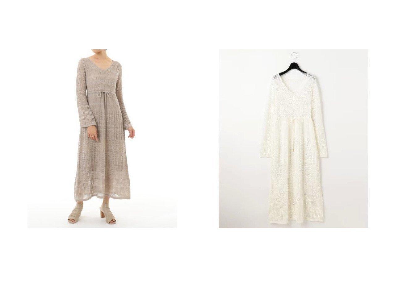 【GRACE CONTINENTAL/グレース コンチネンタル】の透カシ編ニットワンピース ワンピース・ドレスのおすすめ!人気、トレンド・レディースファッションの通販  おすすめで人気の流行・トレンド、ファッションの通販商品 メンズファッション・キッズファッション・インテリア・家具・レディースファッション・服の通販 founy(ファニー) https://founy.com/ ファッション Fashion レディースファッション WOMEN ワンピース Dress ニットワンピース Knit Dresses |ID:crp329100000022761