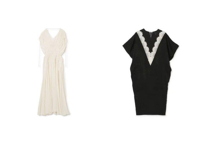 【LOKITHO/ロキト】のGATHERED DRAPE DRESS&LACED VNECK DRESS ワンピース・ドレスのおすすめ!人気、トレンド・レディースファッションの通販  おすすめファッション通販アイテム レディースファッション・服の通販 founy(ファニー) ファッション Fashion レディースファッション WOMEN ワンピース Dress ドレス Party Dresses 2021年 2021 2021 春夏 S/S SS Spring/Summer 2021 S/S 春夏 SS Spring/Summer エレガント ギャザー ドレス ドレープ ノースリーブ フォーマル ラップ ロング クラシック シアー モダン ラグジュアリー レース 半袖 |ID:crp329100000022762