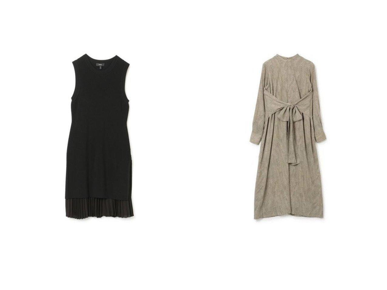 【theory/セオリー】のPOLY CHIFFON CMB SL SWEAT&【CLANE/クラネ】のWAIST RIBBON PYTHON ONE PIECE ワンピース・ドレスのおすすめ!人気、トレンド・レディースファッションの通販  おすすめで人気の流行・トレンド、ファッションの通販商品 メンズファッション・キッズファッション・インテリア・家具・レディースファッション・服の通販 founy(ファニー) https://founy.com/ ファッション Fashion レディースファッション WOMEN ワンピース Dress ドレス Party Dresses シャツワンピース Shirt Dresses 2021年 2021 2021 春夏 S/S SS Spring/Summer 2021 S/S 春夏 SS Spring/Summer インナー エレガント ドレス ノースリーブ フォーマル プリーツ ラグジュアリー パイソン フェミニン リボン リュクス ロング 長袖 |ID:crp329100000022763