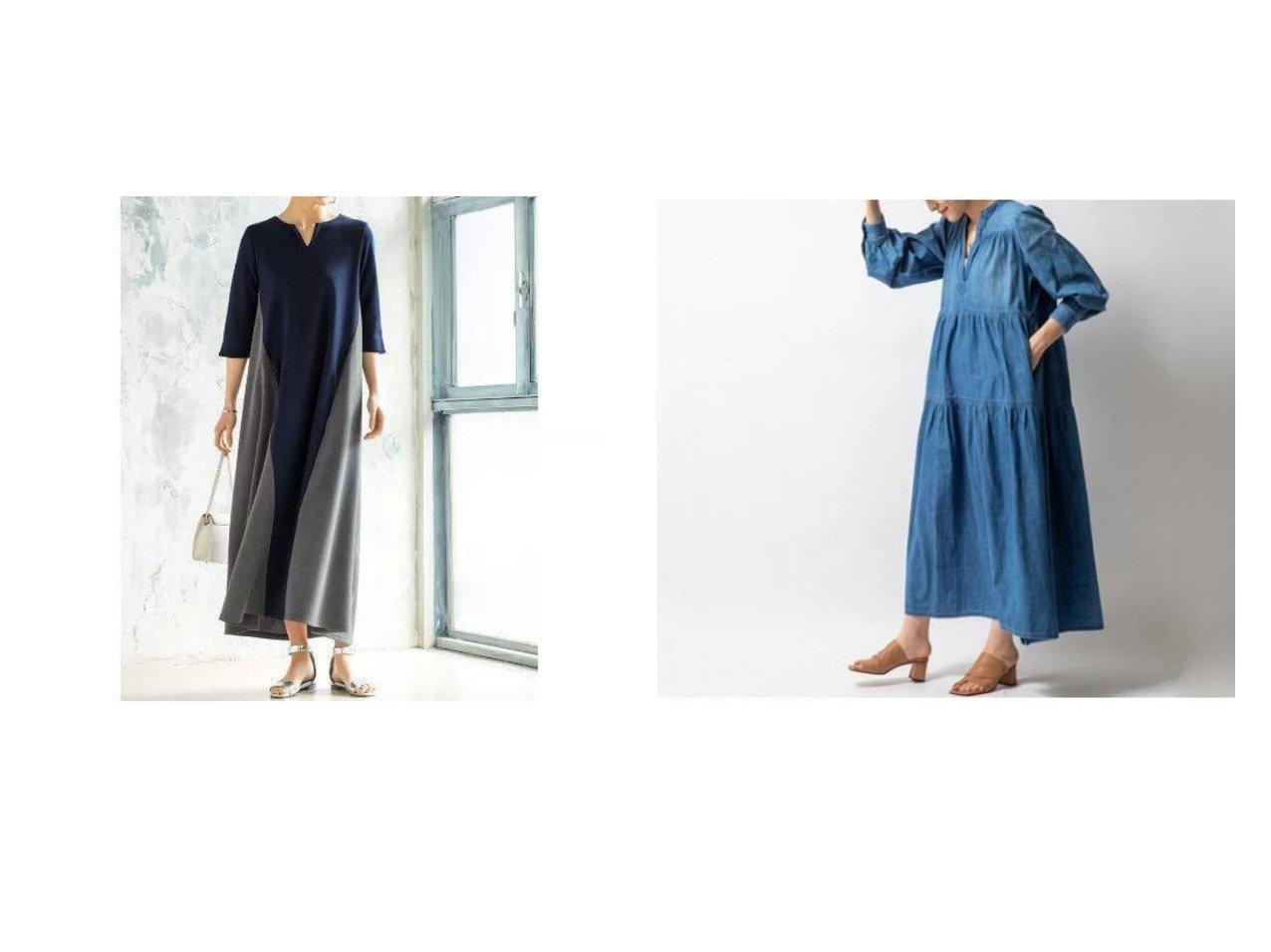 【NOLLEY'S/ノーリーズ】の【ヘルシー】Lychee デニムワンピース&【STYLE DELI/スタイルデリ】の配色切り替えAラインワンピース ワンピース・ドレスのおすすめ!人気、トレンド・レディースファッションの通販  おすすめで人気の流行・トレンド、ファッションの通販商品 メンズファッション・キッズファッション・インテリア・家具・レディースファッション・服の通販 founy(ファニー) https://founy.com/ ファッション Fashion レディースファッション WOMEN ワンピース Dress Aラインワンピース A-line Dress シャツワンピース Shirt Dresses 春 Spring くるぶし カットソー サンダル シューズ ショート スリット フラット ポケット ミックス ロング おすすめ Recommend シンプル ティアード デニム トレンド リゾート 長袖 |ID:crp329100000022765