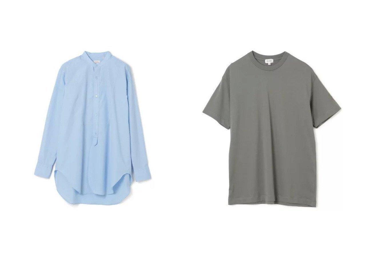 【BLAMINK/ブラミンク】のコットン バンドカラーシャツ&コットンクルーネック 刺繍 ショートリーブTシャツ トップス・カットソーのおすすめ!人気、トレンド・レディースファッションの通販  おすすめで人気の流行・トレンド、ファッションの通販商品 メンズファッション・キッズファッション・インテリア・家具・レディースファッション・服の通販 founy(ファニー) https://founy.com/ ファッション Fashion レディースファッション WOMEN トップス カットソー Tops Tshirt シャツ/ブラウス Shirts Blouses ロング / Tシャツ T-Shirts カットソー Cut and Sewn シンプル フロント 長袖 カットソー スタイリッシュ 半袖 洗える |ID:crp329100000022786