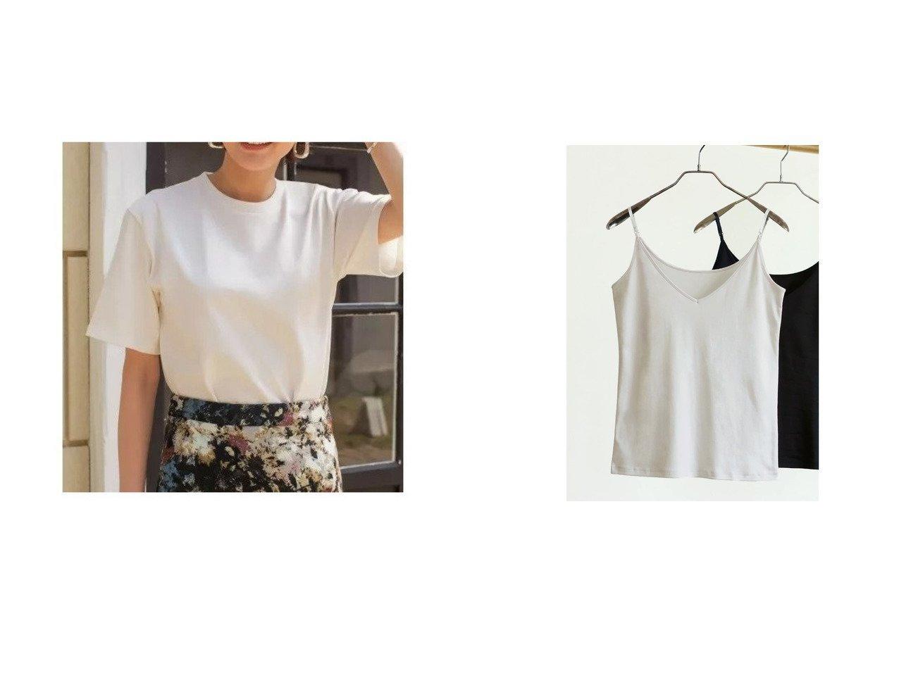 【STYLE DELI/スタイルデリ】の【Made in Japan】コットンインナーキャミソール&ボーイズライクしっかり生地Tシャツ トップス・カットソーのおすすめ!人気、トレンド・レディースファッションの通販  おすすめで人気の流行・トレンド、ファッションの通販商品 メンズファッション・キッズファッション・インテリア・家具・レディースファッション・服の通販 founy(ファニー) https://founy.com/ ファッション Fashion レディースファッション WOMEN トップス カットソー Tops Tshirt キャミソール / ノースリーブ No Sleeves シャツ/ブラウス Shirts Blouses ロング / Tシャツ T-Shirts カットソー Cut and Sewn イエロー インナー キャミ キャミソール シンプル ジャケット なめらか リボン 再入荷 Restock/Back in Stock/Re Arrival カットソー トレンド 定番 Standard バランス フォルム プリーツ ペンシル 半袖 無地 |ID:crp329100000022791