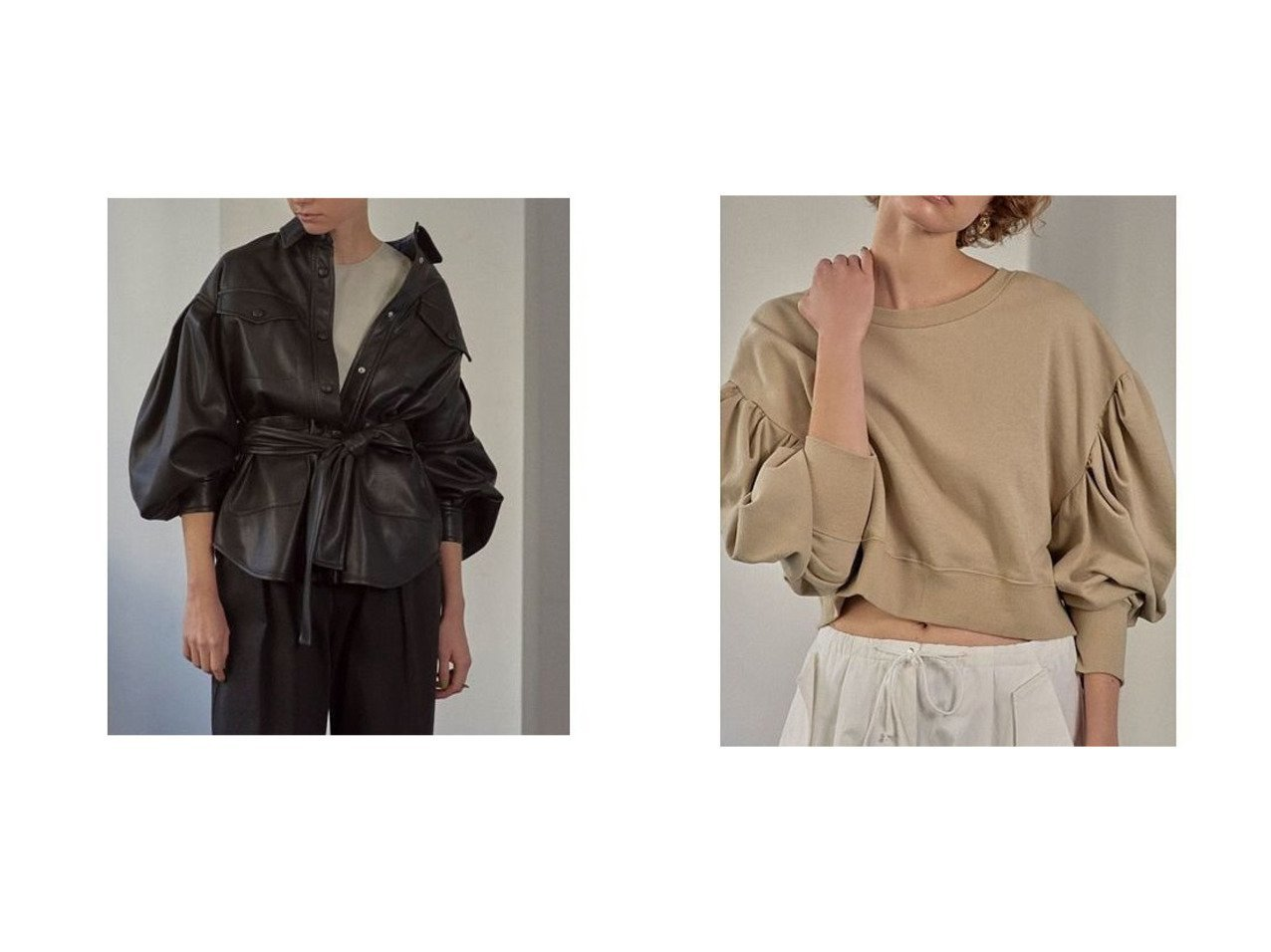【ETRE TOKYO/エトレトウキョウ】のウエストベルトフェイクレザーシャツ&コットンパワショルスウェット トップス・カットソーのおすすめ!人気、トレンド・レディースファッションの通販 おすすめで人気の流行・トレンド、ファッションの通販商品 メンズファッション・キッズファッション・インテリア・家具・レディースファッション・服の通販 founy(ファニー) https://founy.com/ ファッション Fashion レディースファッション WOMEN トップス カットソー Tops Tshirt シャツ/ブラウス Shirts Blouses ベルト Belts パーカ Sweats スウェット Sweat NEW・新作・新着・新入荷 New Arrivals おすすめ Recommend コーティング スリーブ バルーン リアル ギャザー ショルダー ショート バランス フェミニン ループ  ID:crp329100000022862