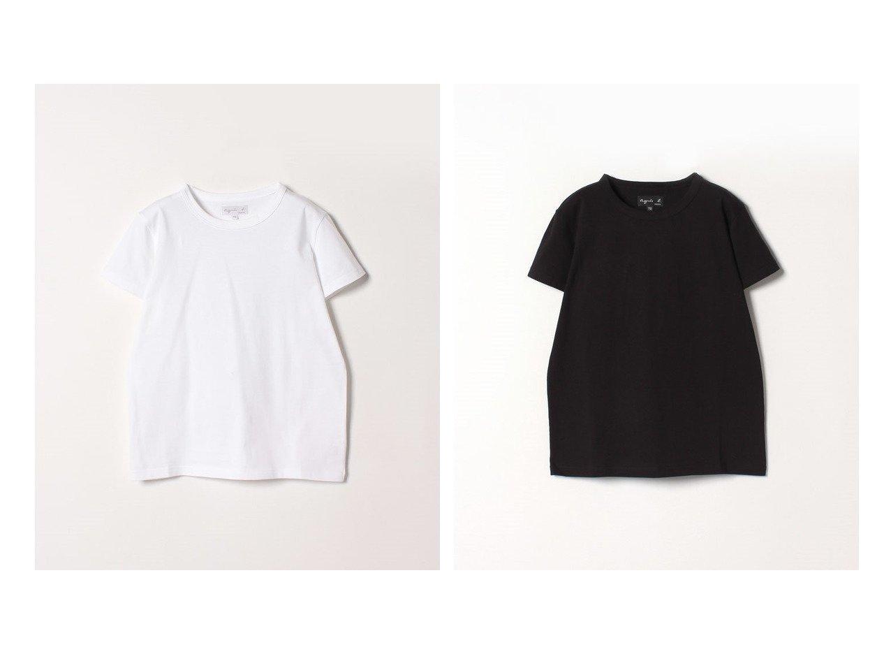 【agnes b. FEMME/アニエスベー ファム】のJ000 TS コットンTシャツ トップス・カットソーのおすすめ!人気、トレンド・レディースファッションの通販 おすすめで人気の流行・トレンド、ファッションの通販商品 メンズファッション・キッズファッション・インテリア・家具・レディースファッション・服の通販 founy(ファニー) https://founy.com/ ファッション Fashion レディースファッション WOMEN トップス カットソー Tops Tshirt シャツ/ブラウス Shirts Blouses ロング / Tシャツ T-Shirts カットソー Cut and Sewn インナー シンプル 半袖 定番 Standard 無地  ID:crp329100000022952