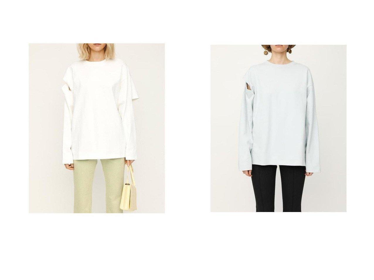 【SLY/スライ】のCUTTING SLEEVE トップス トップス・カットソーのおすすめ!人気、トレンド・レディースファッションの通販 おすすめで人気の流行・トレンド、ファッションの通販商品 メンズファッション・キッズファッション・インテリア・家具・レディースファッション・服の通販 founy(ファニー) https://founy.com/ ファッション Fashion レディースファッション WOMEN トップス カットソー Tops Tshirt シャツ/ブラウス Shirts Blouses ロング / Tシャツ T-Shirts カットソー Cut and Sewn カッティング |ID:crp329100000022973