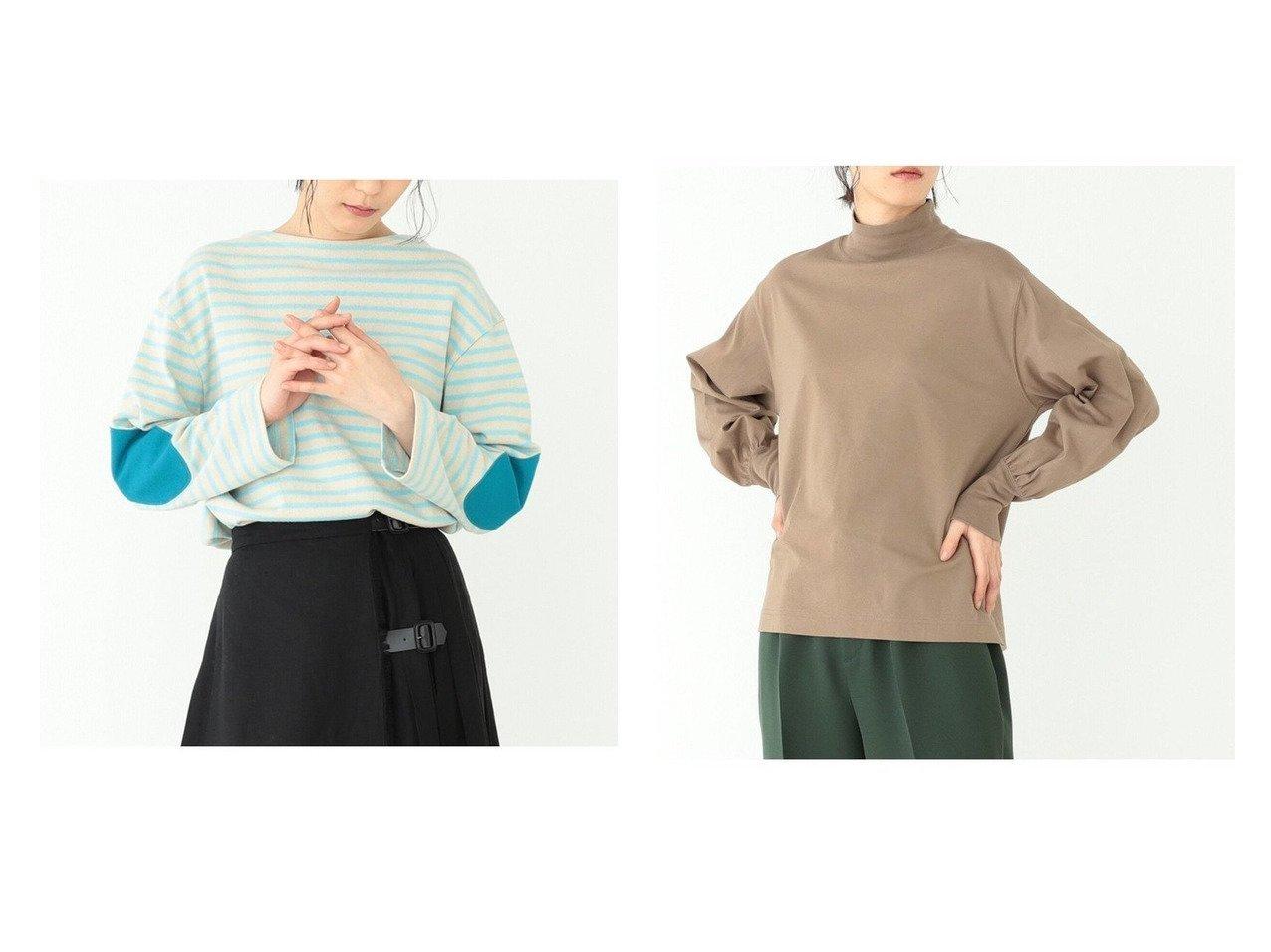 【BEAMS BOY/ビームス ボーイ】のエルボーパッチ バスク ロングスリーブ Tシャツ 21SS&モックネック ギャザー ロングスリーブTシャツ トップス・カットソーのおすすめ!人気、トレンド・レディースファッションの通販 おすすめで人気の流行・トレンド、ファッションの通販商品 メンズファッション・キッズファッション・インテリア・家具・レディースファッション・服の通販 founy(ファニー) https://founy.com/ ファッション Fashion レディースファッション WOMEN トップス カットソー Tops Tshirt シャツ/ブラウス Shirts Blouses ロング / Tシャツ T-Shirts カットソー Cut and Sewn 2021年 2021 2021 春夏 S/S SS Spring/Summer 2021 S/S 春夏 SS Spring/Summer カットソー スリーブ トレンド バスク ロング |ID:crp329100000023025
