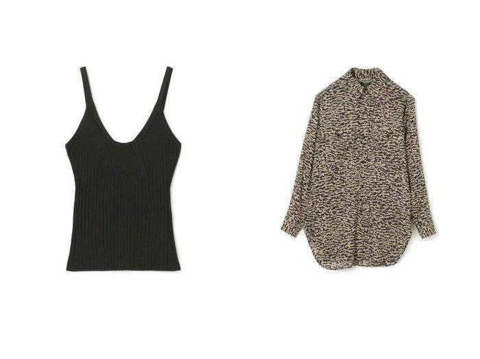 【YLEVE/イレーヴ】のWARM CAMO PRINT CAMBRIC SHIRT&【MADISONBLUE/マディソンブルー】のRIB CAMISOLE KNIT トップス・カットソーのおすすめ!人気、トレンド・レディースファッションの通販 おすすめファッション通販アイテム レディースファッション・服の通販 founy(ファニー) ファッション Fashion レディースファッション WOMEN トップス カットソー Tops Tshirt ニット Knit Tops キャミソール / ノースリーブ No Sleeves シャツ/ブラウス Shirts Blouses ロング / Tシャツ T-Shirts カットソー Cut and Sewn カットソー キャミソール スポーツ ワイドリブ 軽量 2021年 2021 2021 春夏 S/S SS Spring/Summer 2021 S/S 春夏 SS Spring/Summer エレガント カモフラージュ プリント マニッシュ 長袖 |ID:crp329100000023048