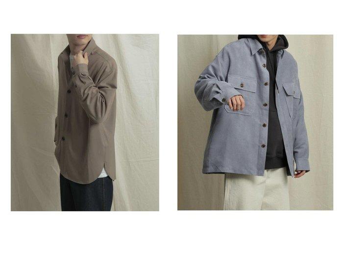【SENSE OF PLACE / URBAN RESEARCH / MEN/センス オブ プレイス】のエコスエードCPOシャツ&CARREMANシャツ 【MEN】おすすめ!人気トレンド・男性、メンズファッションの通販 おすすめ人気トレンドファッション通販アイテム 人気、トレンドファッション・服の通販 founy(ファニー) ファッション Fashion メンズファッション MEN スラックス セットアップ フランス ポケット ワイド シンプル スエード フェイクスエード プチプライス・低価格 Affordable 春 Spring  ID:crp329100000023113