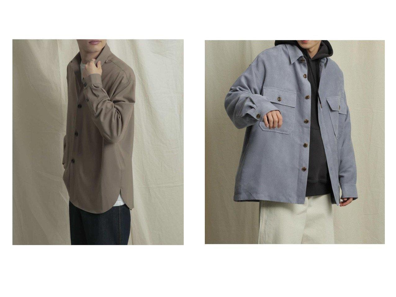 【SENSE OF PLACE / URBAN RESEARCH / MEN/センス オブ プレイス】のエコスエードCPOシャツ&CARREMANシャツ 【MEN】おすすめ!人気トレンド・男性、メンズファッションの通販 おすすめで人気の流行・トレンド、ファッションの通販商品 メンズファッション・キッズファッション・インテリア・家具・レディースファッション・服の通販 founy(ファニー) https://founy.com/ ファッション Fashion メンズファッション MEN スラックス セットアップ フランス ポケット ワイド シンプル スエード フェイクスエード プチプライス・低価格 Affordable 春 Spring  ID:crp329100000023113