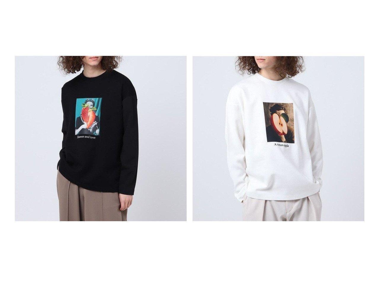【tk TAKEO KIKUCHI / MEN/ティーケー】のフルーツコラージュギミックTシャツ 【MEN】おすすめ!人気トレンド・男性、メンズファッションの通販 おすすめで人気の流行・トレンド、ファッションの通販商品 メンズファッション・キッズファッション・インテリア・家具・レディースファッション・服の通販 founy(ファニー) https://founy.com/ ファッション Fashion メンズファッション MEN トップス カットソー Tops Tshirt Men シャツ Shirts おすすめ Recommend インナー グラフィック ジャケット プリント ミックス |ID:crp329100000023125