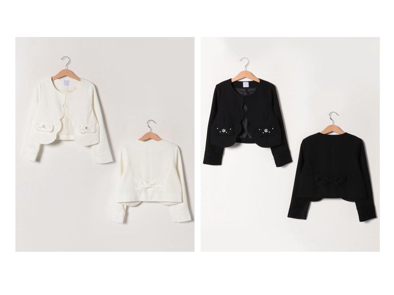 【axes femme / KIDS/アクシーズ ファム】のスカラップ使いジャケット 【KIDS】子供服のおすすめ!人気トレンド・キッズファッションの通販 おすすめで人気の流行・トレンド、ファッションの通販商品 メンズファッション・キッズファッション・インテリア・家具・レディースファッション・服の通販 founy(ファニー) https://founy.com/ ファッション Fashion キッズファッション KIDS アウター Coat Outerwear Kids ジャケット スカラップ レース  ID:crp329100000023168