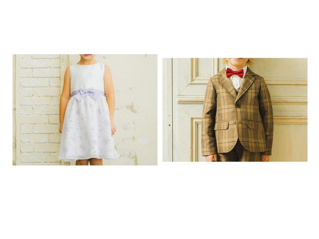 【branshes / KIDS/ブランシェス】の【キメ服】サージ/チェックジャケット&【キメ服】花柄ジャンパースカート 【KIDS】子供服のおすすめ!人気トレンド・キッズファッションの通販 おすすめで人気の流行・トレンド、ファッションの通販商品 メンズファッション・キッズファッション・インテリア・家具・レディースファッション・服の通販 founy(ファニー) https://founy.com/ ファッション Fashion キッズファッション KIDS アウター Coat Outerwear Kids シフォン ジャケット セットアップ ダウン チェック ベスト 再入荷 Restock/Back in Stock/Re Arrival  ID:crp329100000023172